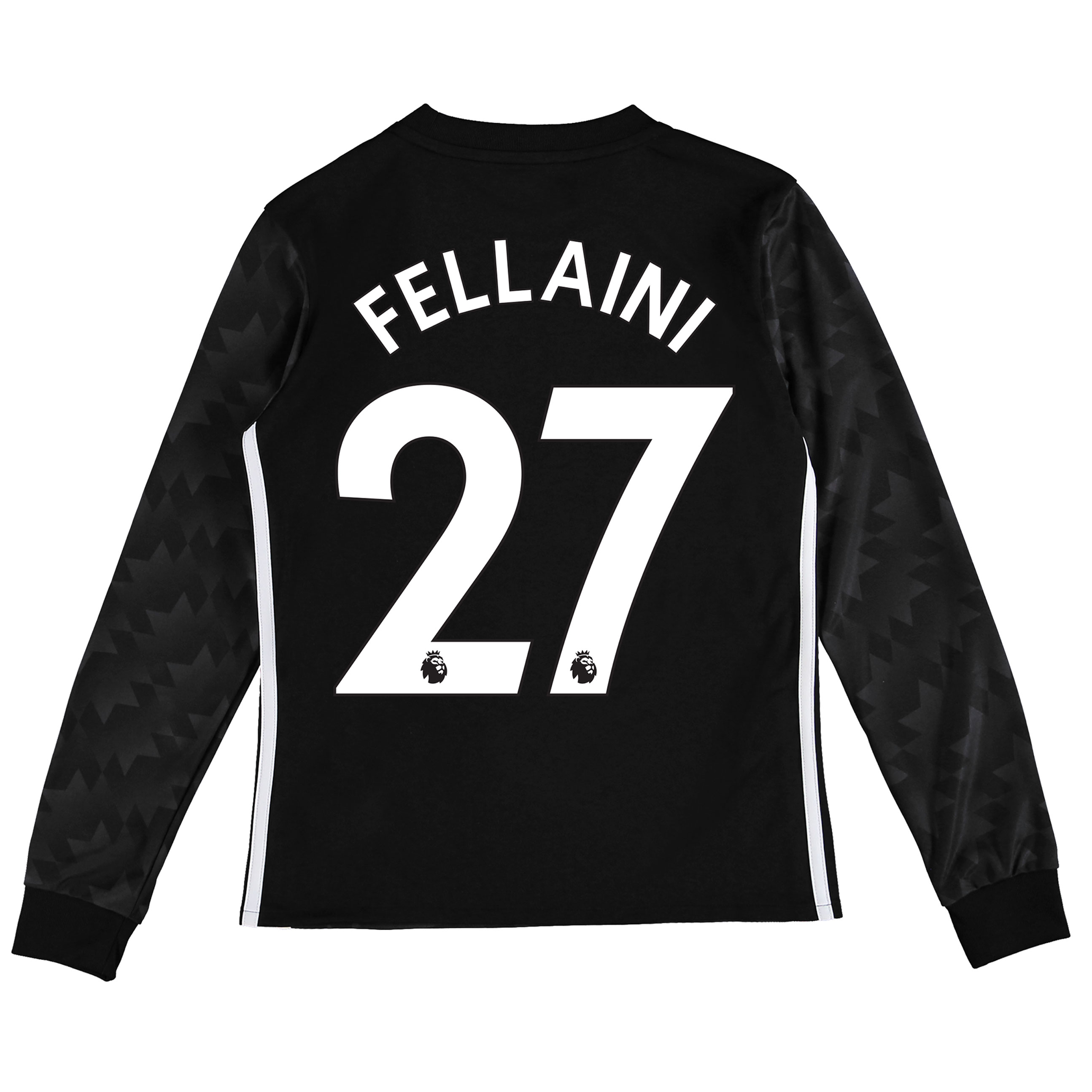 Manchester United Away Shirt 2017-18 - Kids - Long Sleeve with Fellain