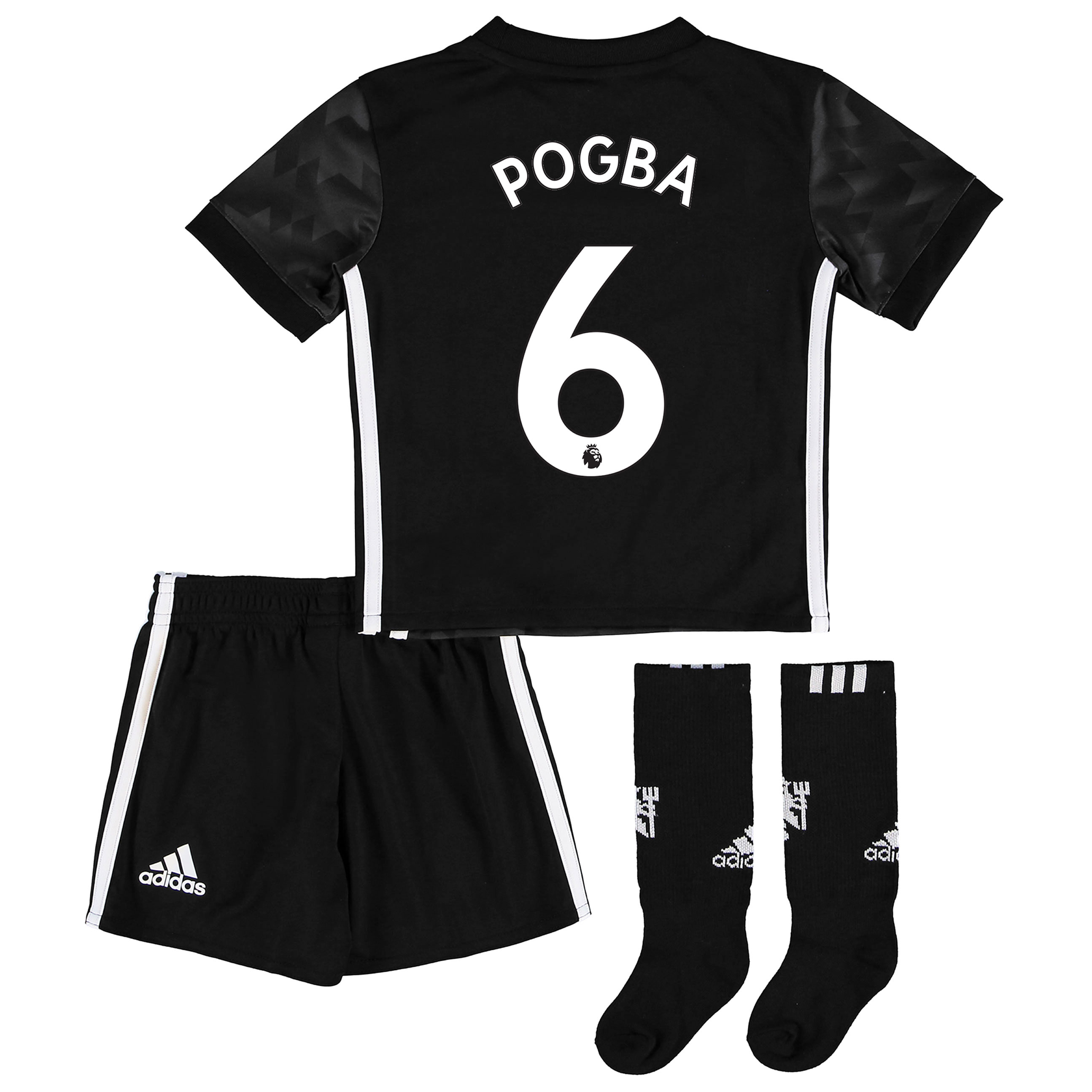 Manchester United Away Mini Kit 2017-18 with Pogba 6 printing