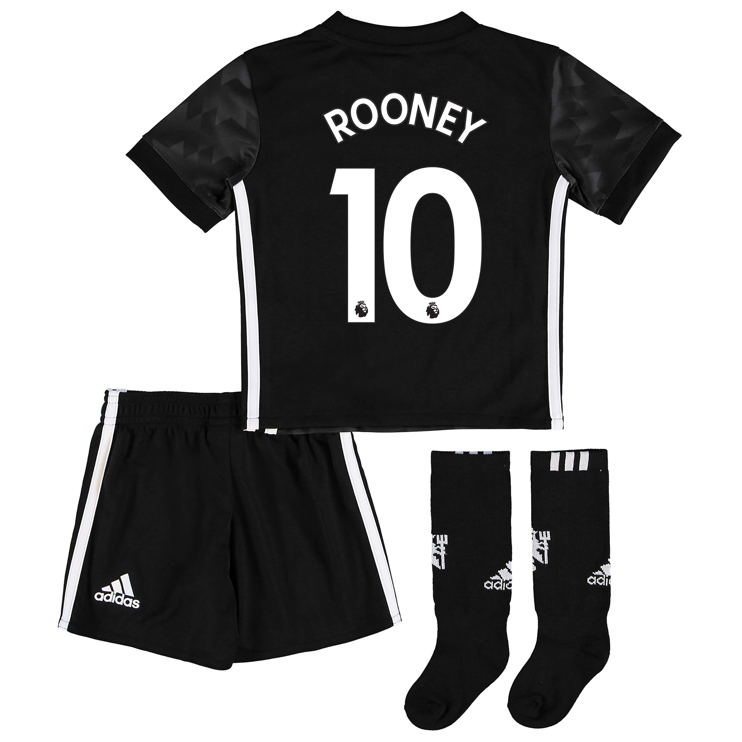 Manchester United Away Mini Kit 2017-18 with Rooney 10 printing