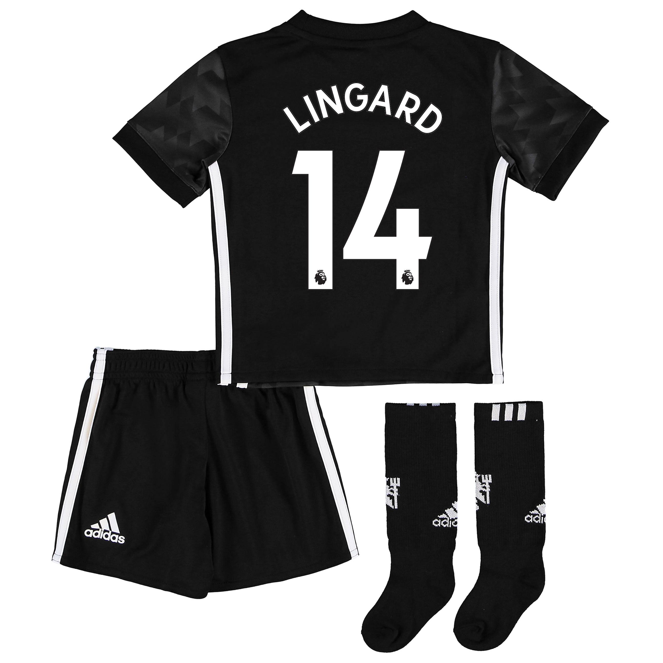 Manchester United Away Mini Kit 2017-18 with Lingard 14 printing