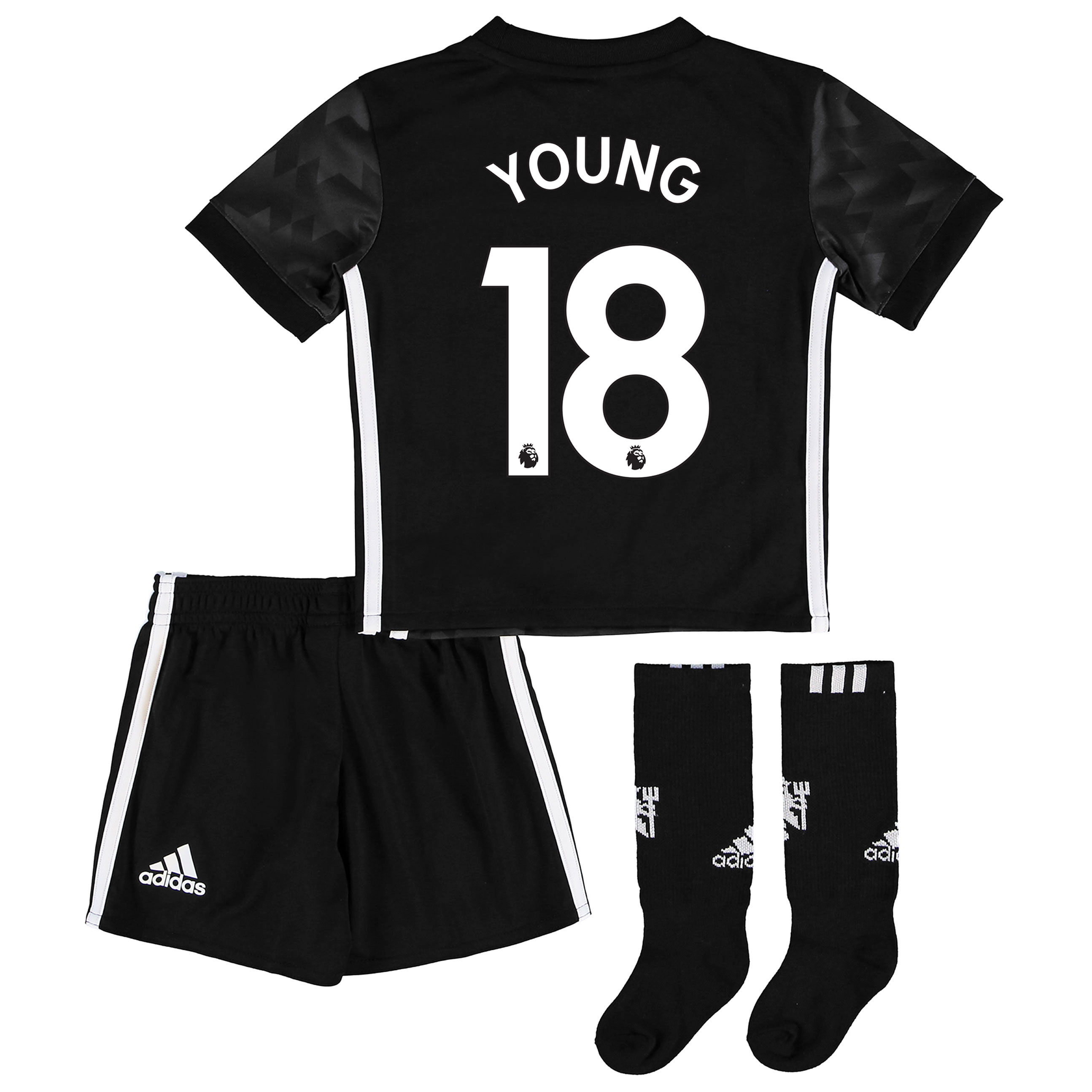 Manchester United Away Mini Kit 2017-18 with Young 18 printing