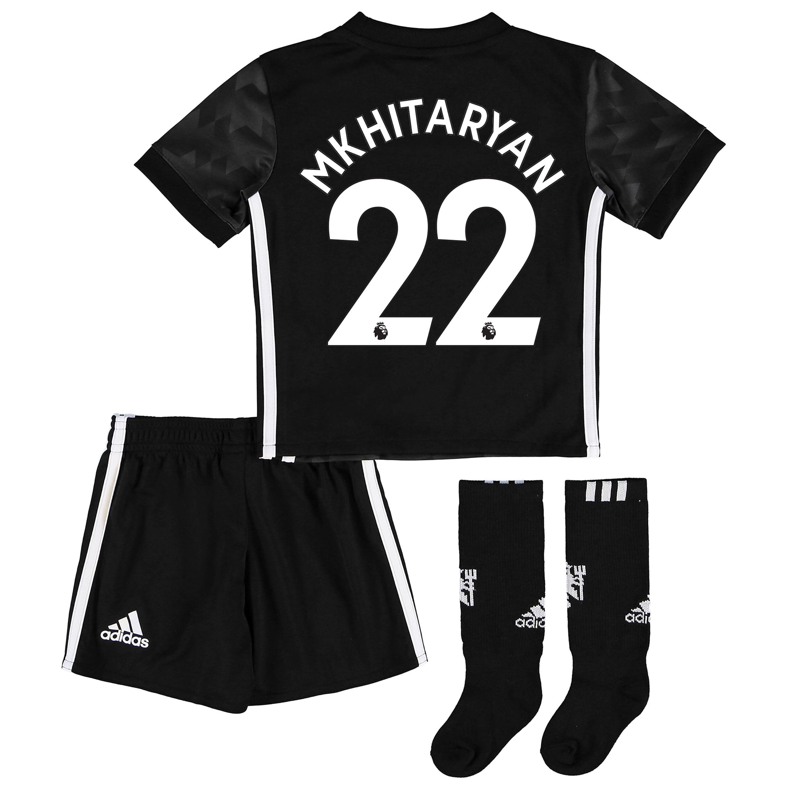 Manchester United Away Mini Kit 2017-18 with Mkhitaryan 22 printing