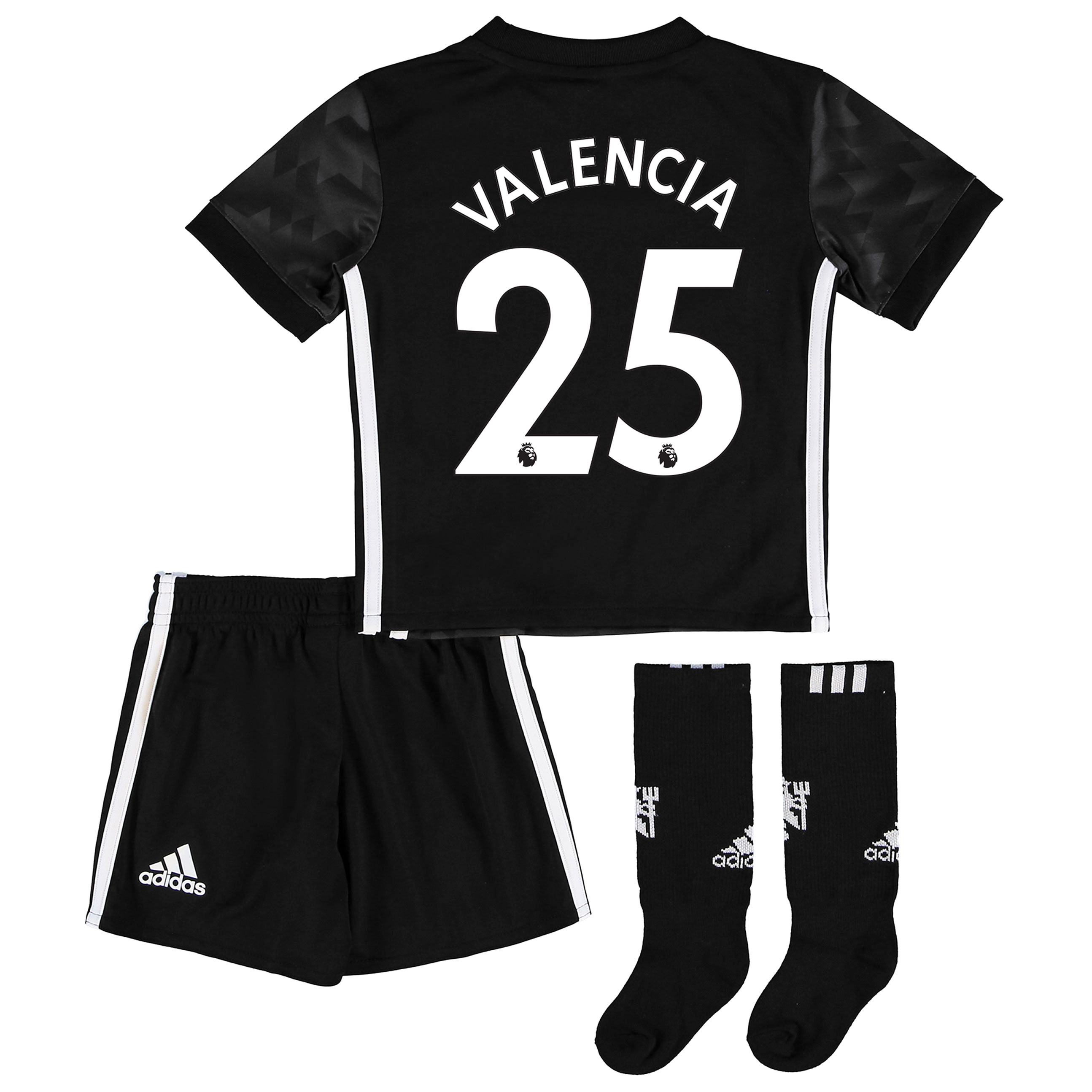 Manchester United Away Mini Kit 2017-18 with Valencia 25 printing