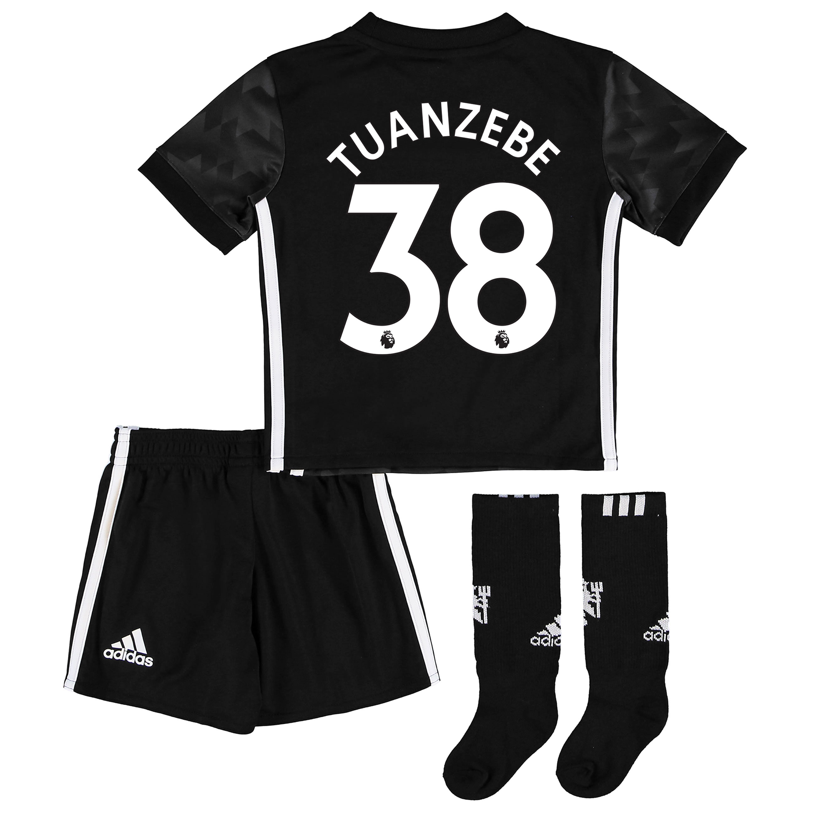 Manchester United Away Mini Kit 2017-18 with Tuanzebe 38 printing