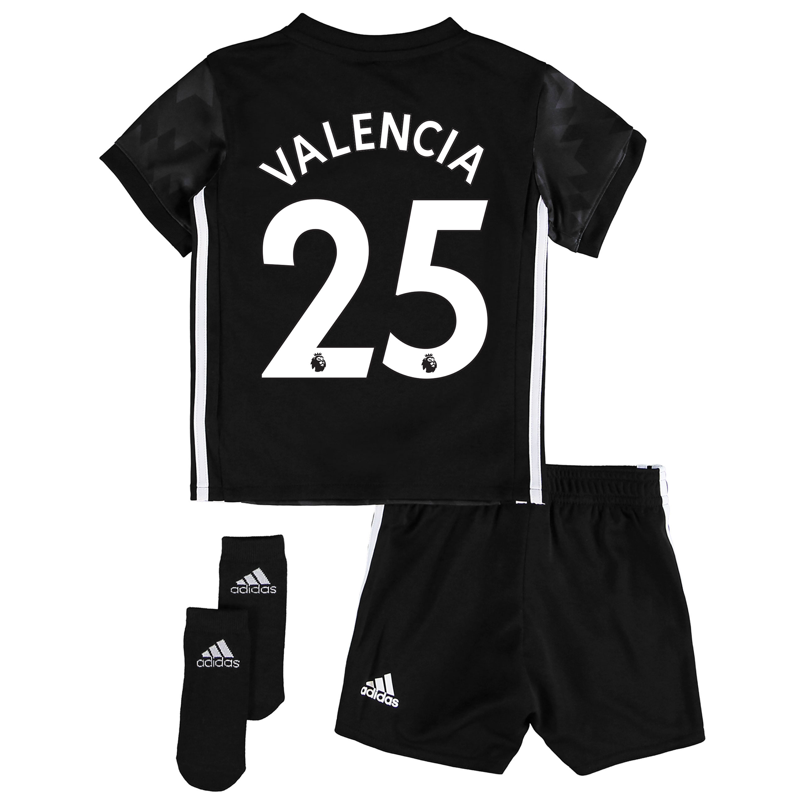 Manchester United Away Baby Kit 2017-18 with Valencia 25 printing