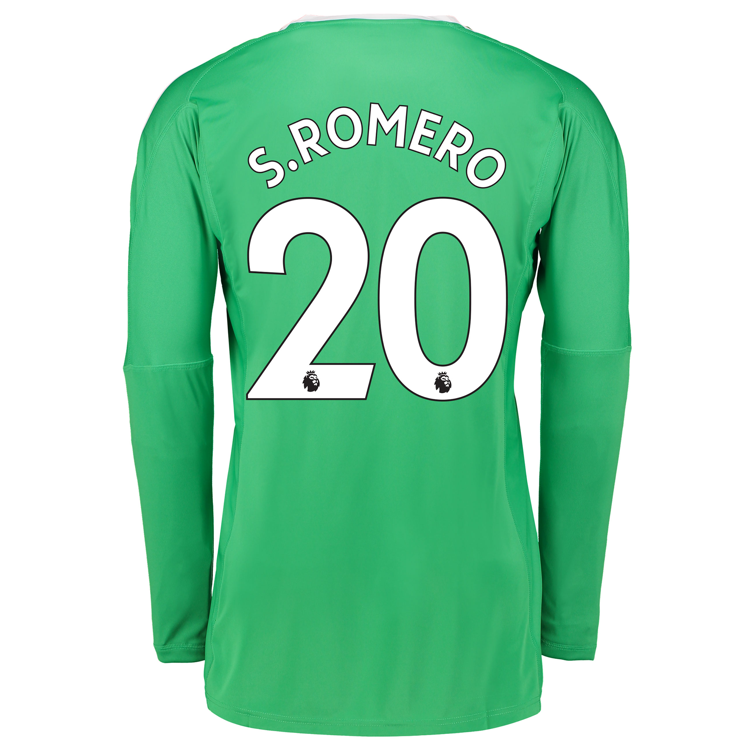 Manchester United Away Goalkeeper Shirt 2017-18 with S.Romero 20 print