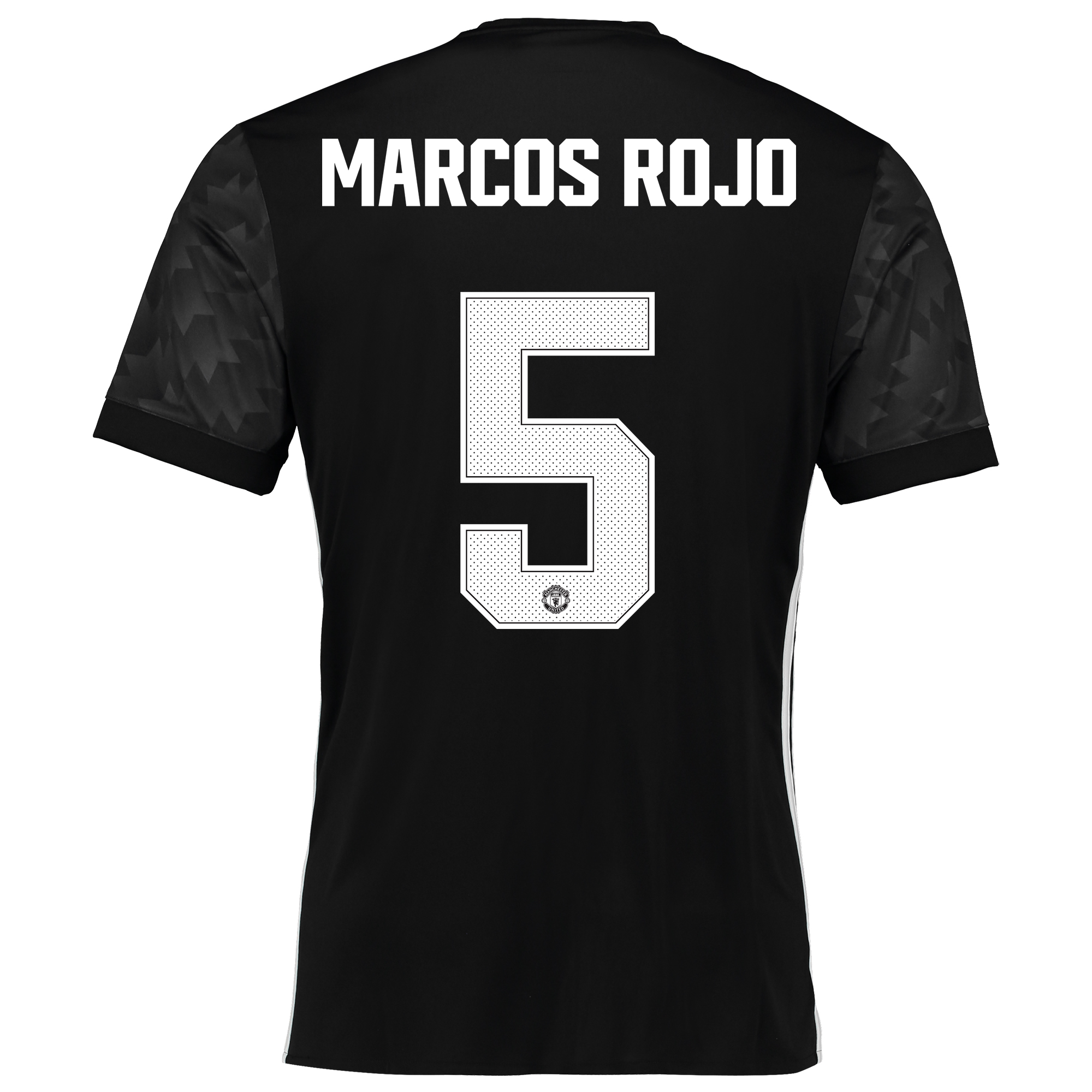 Image of Manchester United Away Cup Shirt 2017-18 with Marcos Rojo 5 printing