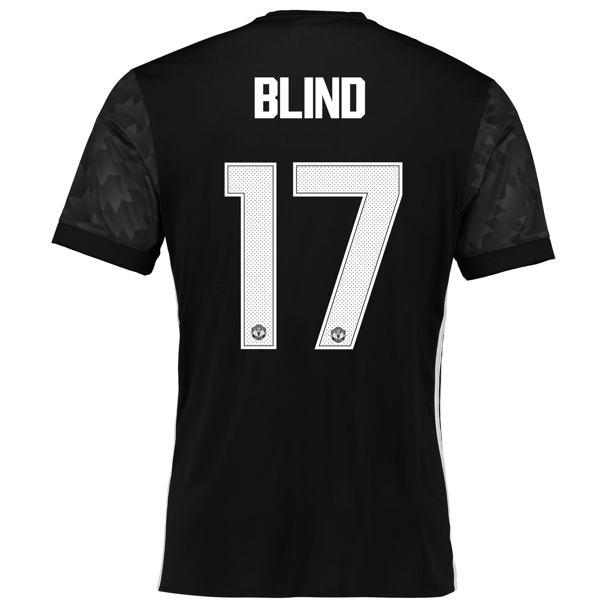 Image of Manchester United Away Cup Shirt 2017-18 with Blind 17 printing