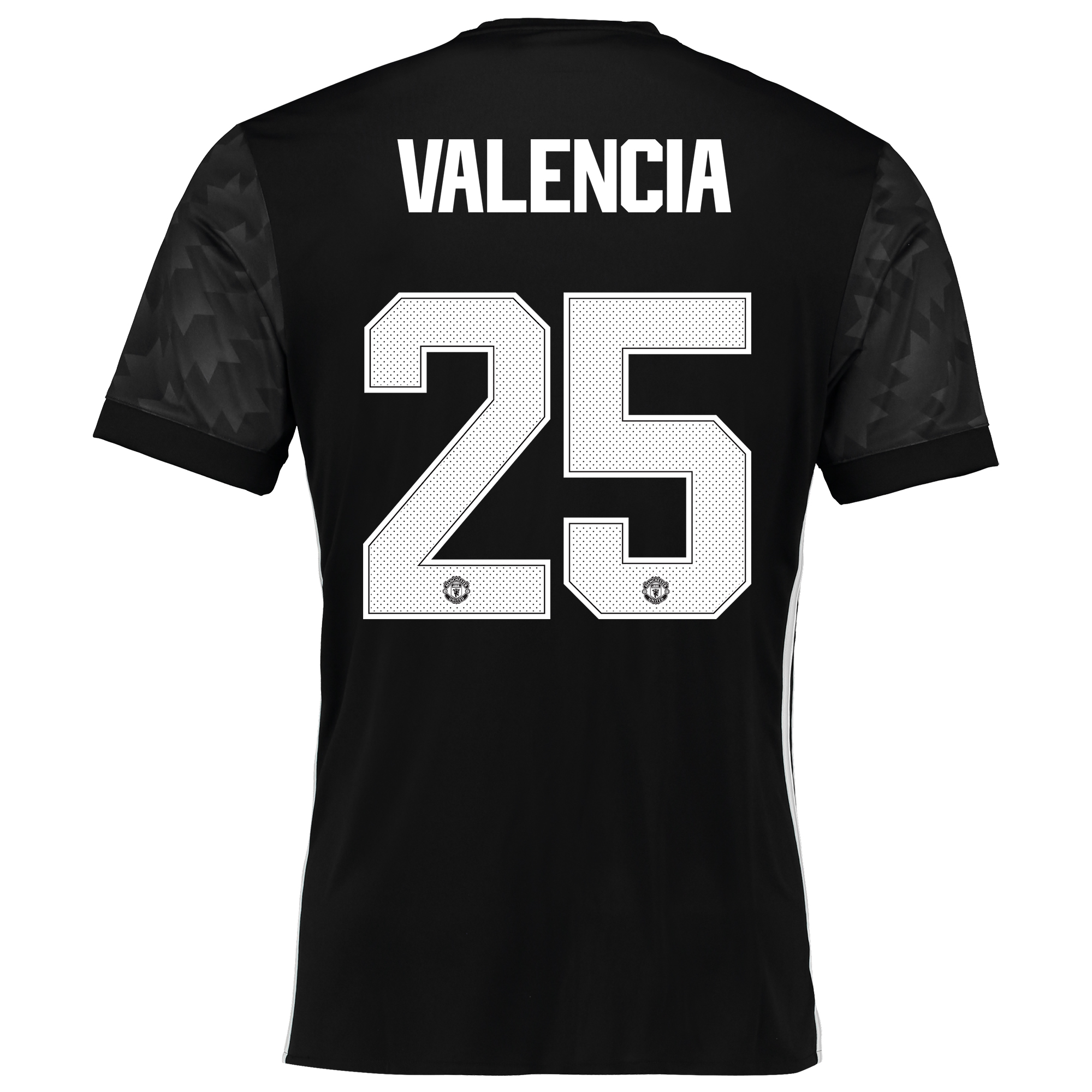 Manchester United Away Cup Shirt 2017-18 with Valencia 25 printing