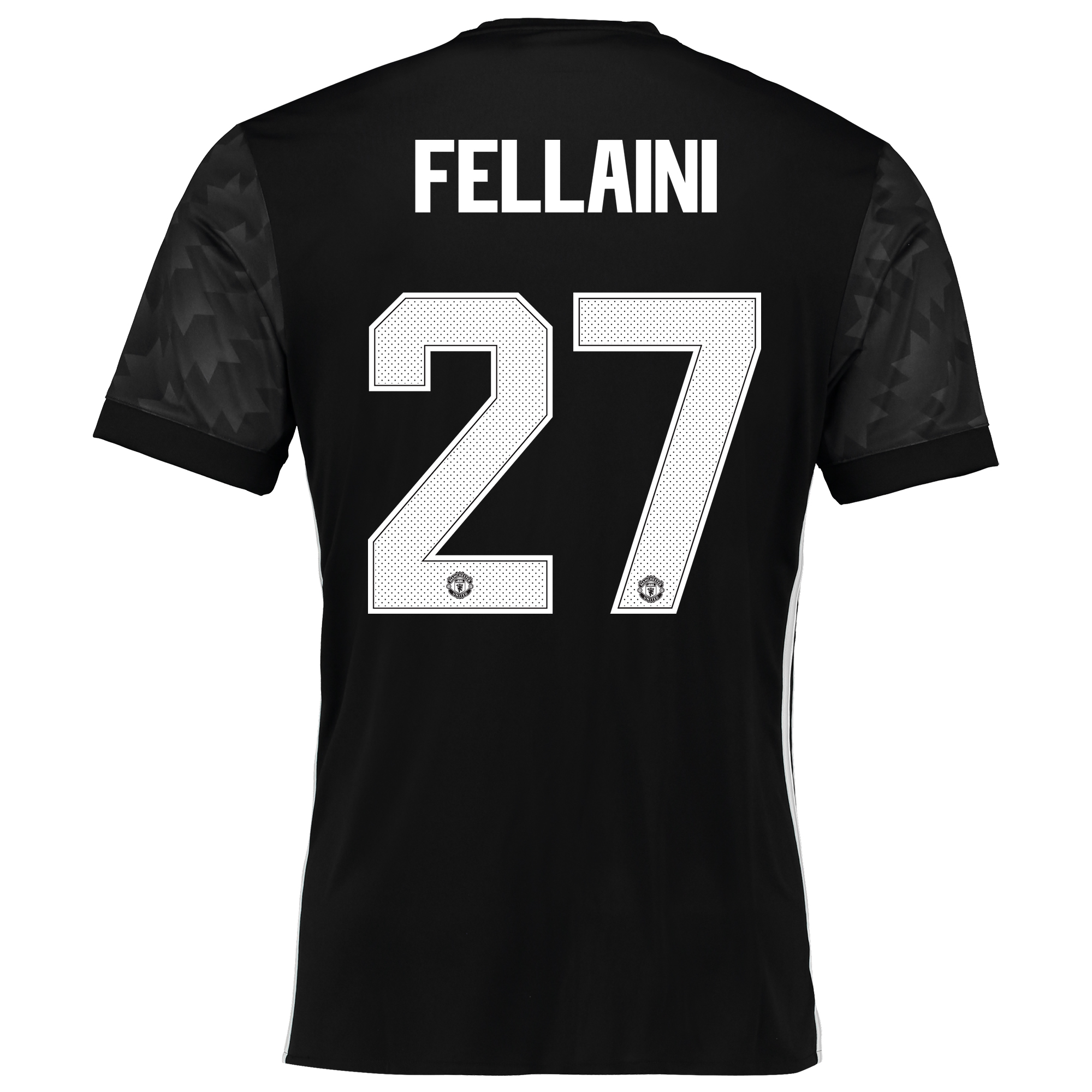 Image of Manchester United Away Cup Shirt 2017-18 with Fellaini 27 printing