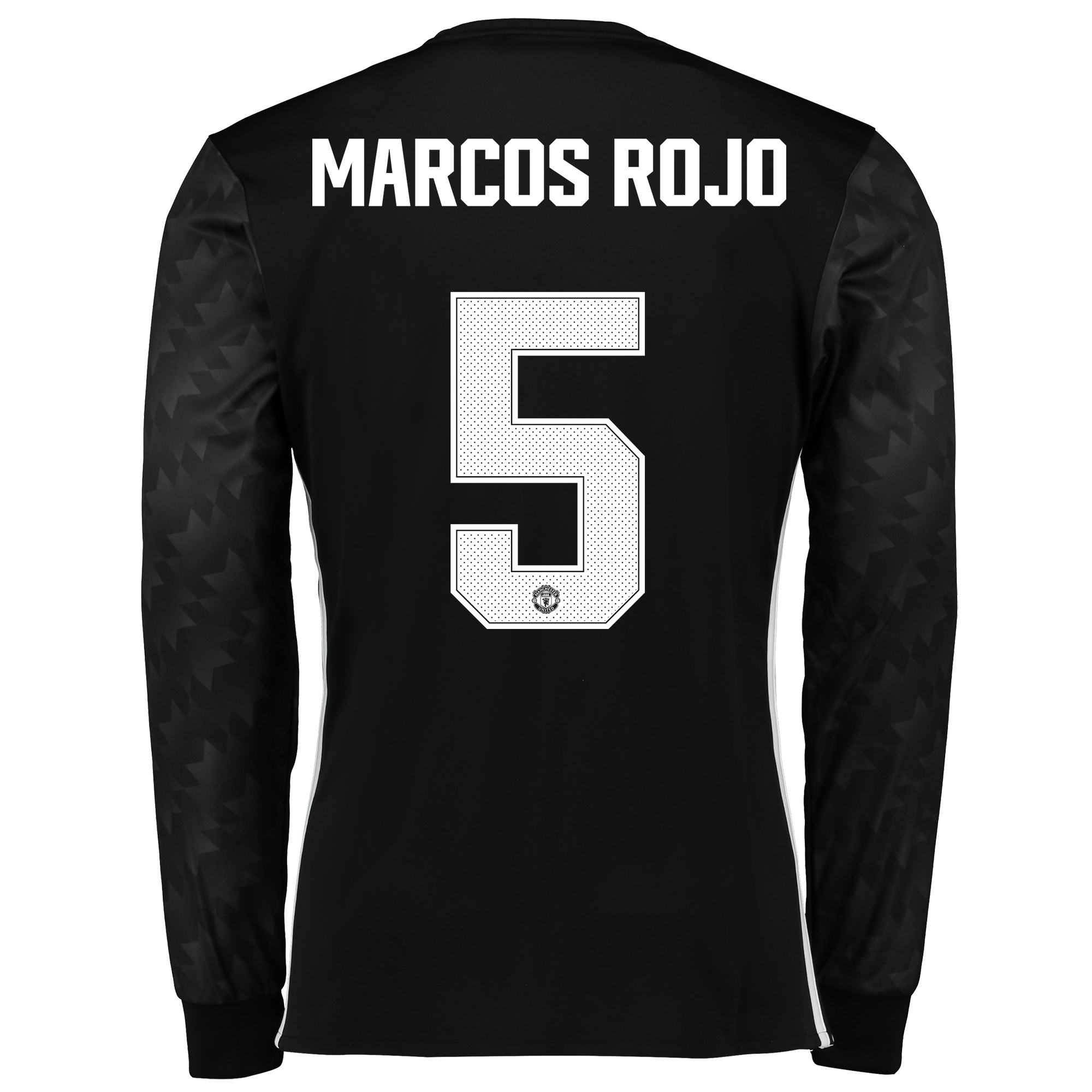 Image of Manchester United Away Cup Shirt 2017-18 - Long Sleeve with Marcos Rojo 5 printing