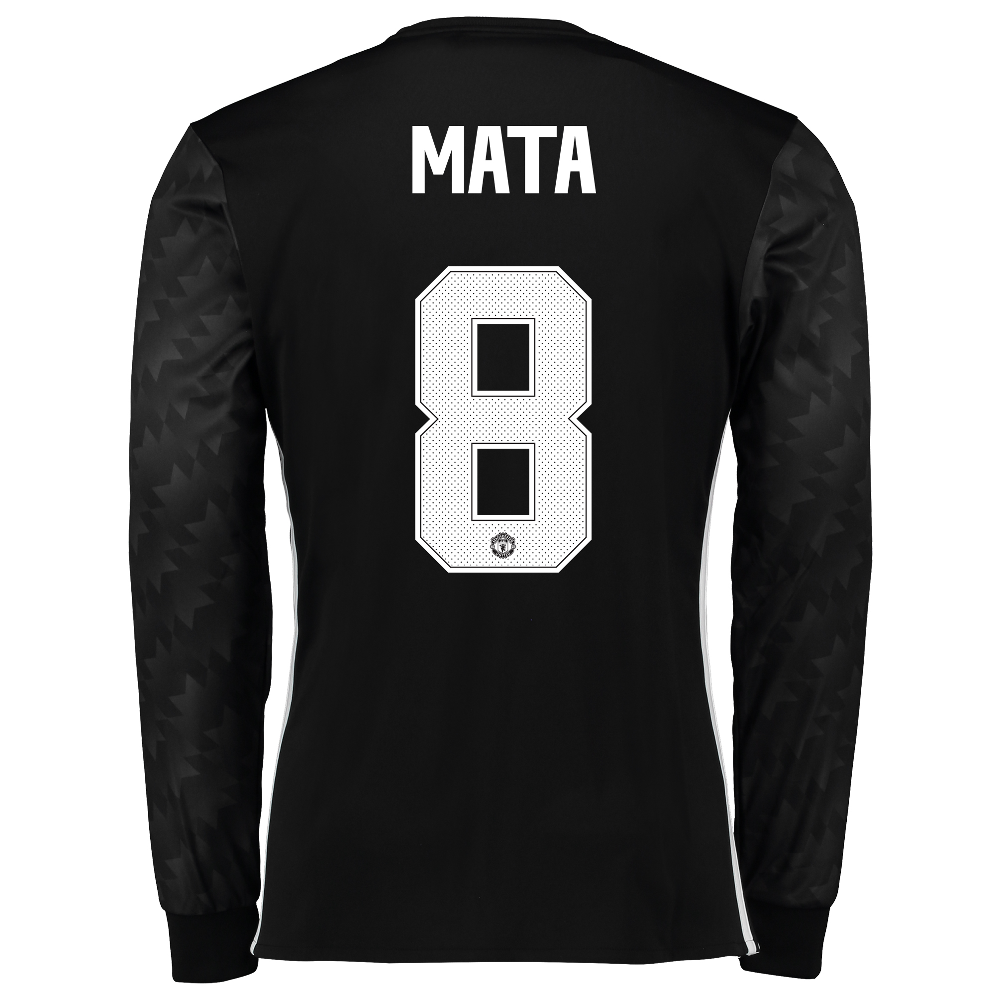 Image of Manchester United Away Cup Shirt 2017-18 - Long Sleeve with Mata 8 printing