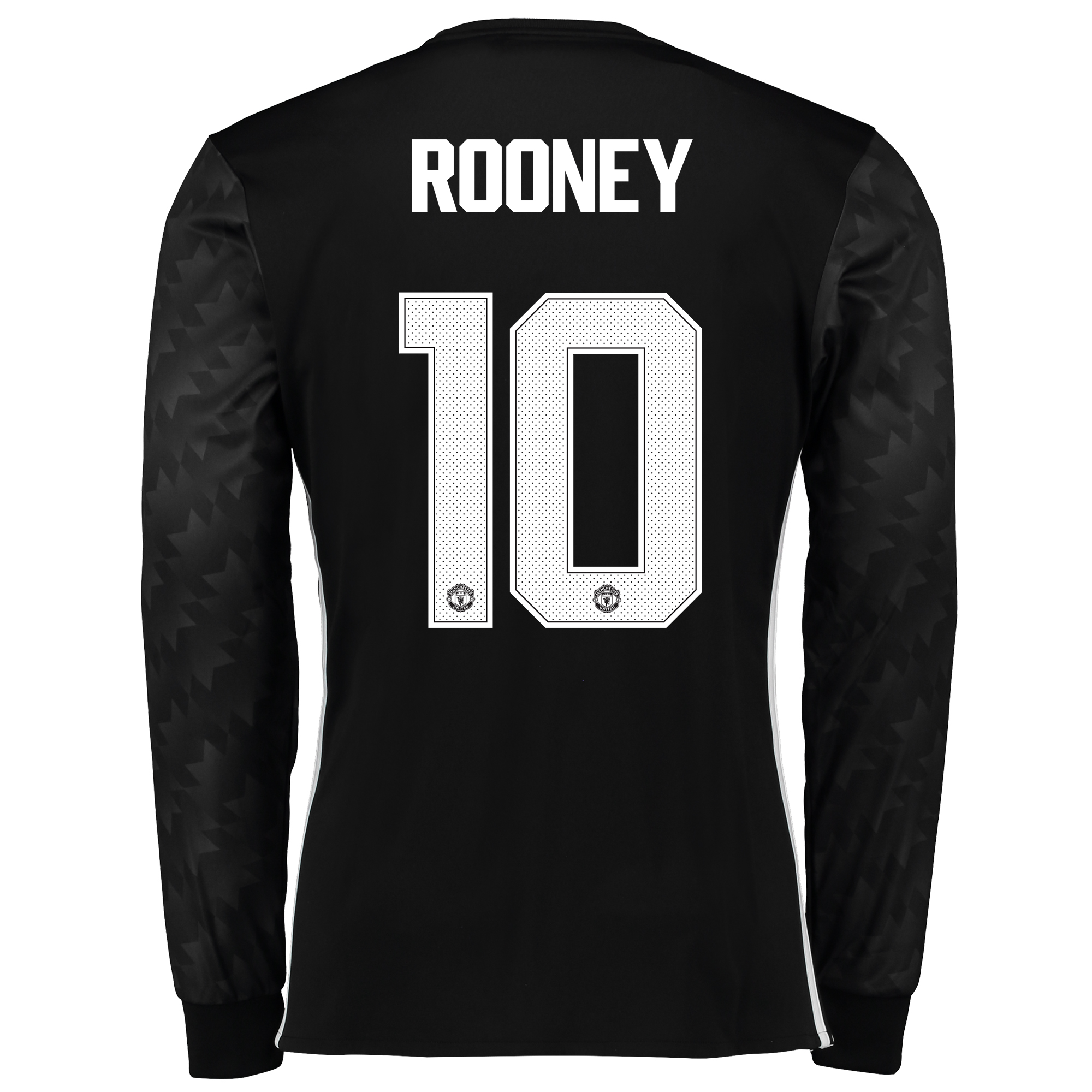 Manchester United Away Cup Shirt 2017-18 - Long Sleeve with Rooney 10