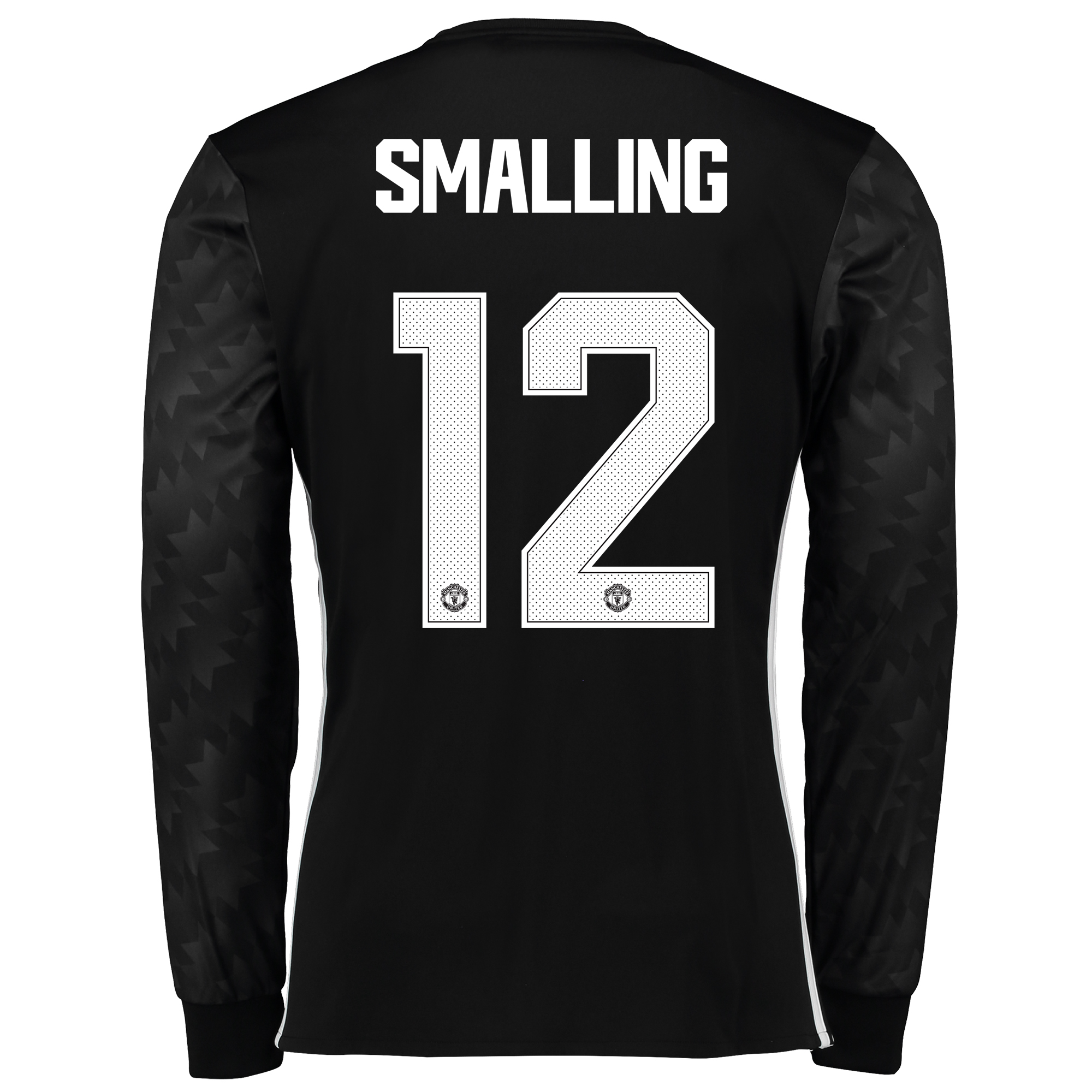 Image of Manchester United Away Cup Shirt 2017-18 - Long Sleeve with Smalling 12 printing