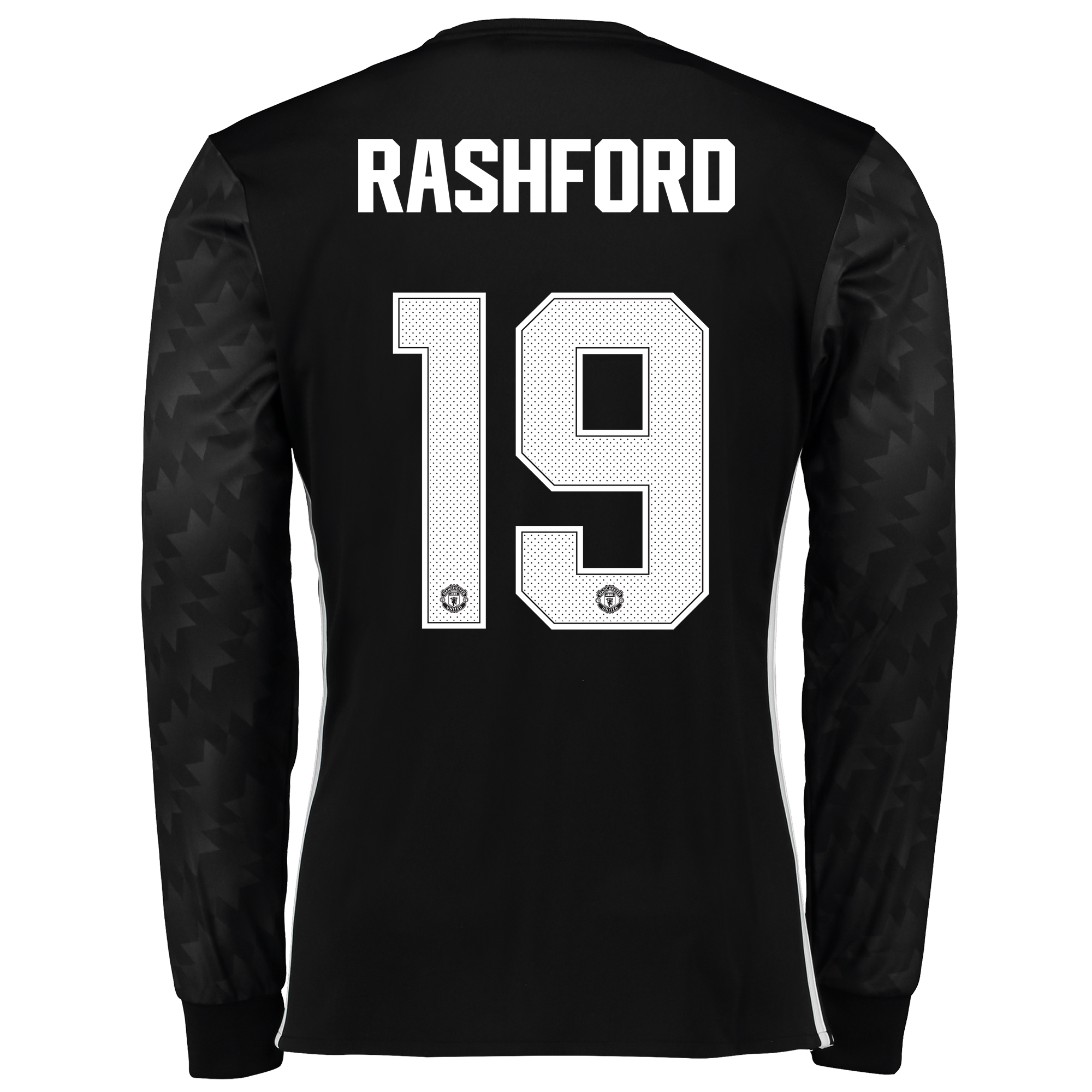 Image of Manchester United Away Cup Shirt 2017-18 - Long Sleeve with Rashford 19 printing
