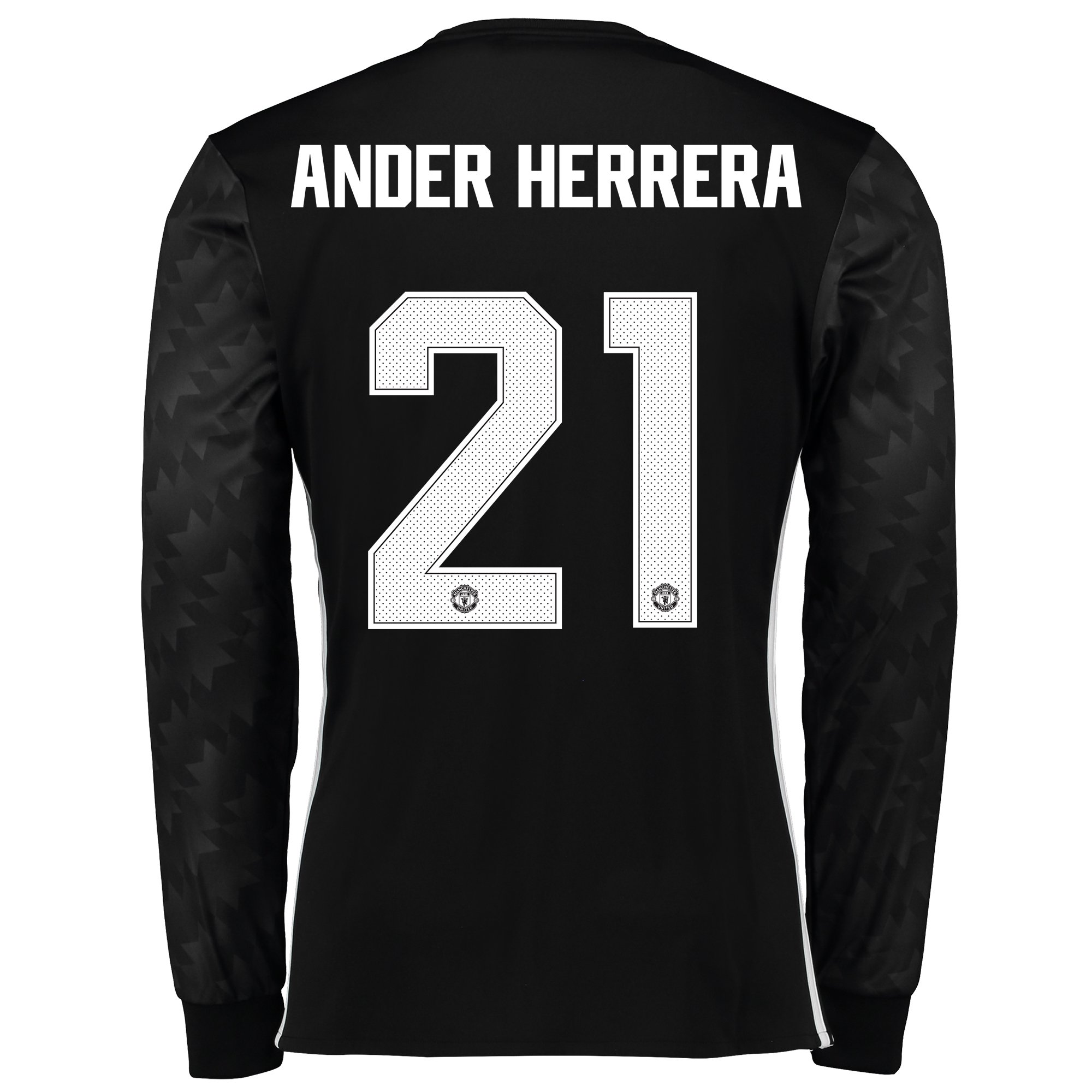 Manchester United Away Cup Shirt 2017-18 - Long Sleeve with Ander Herr