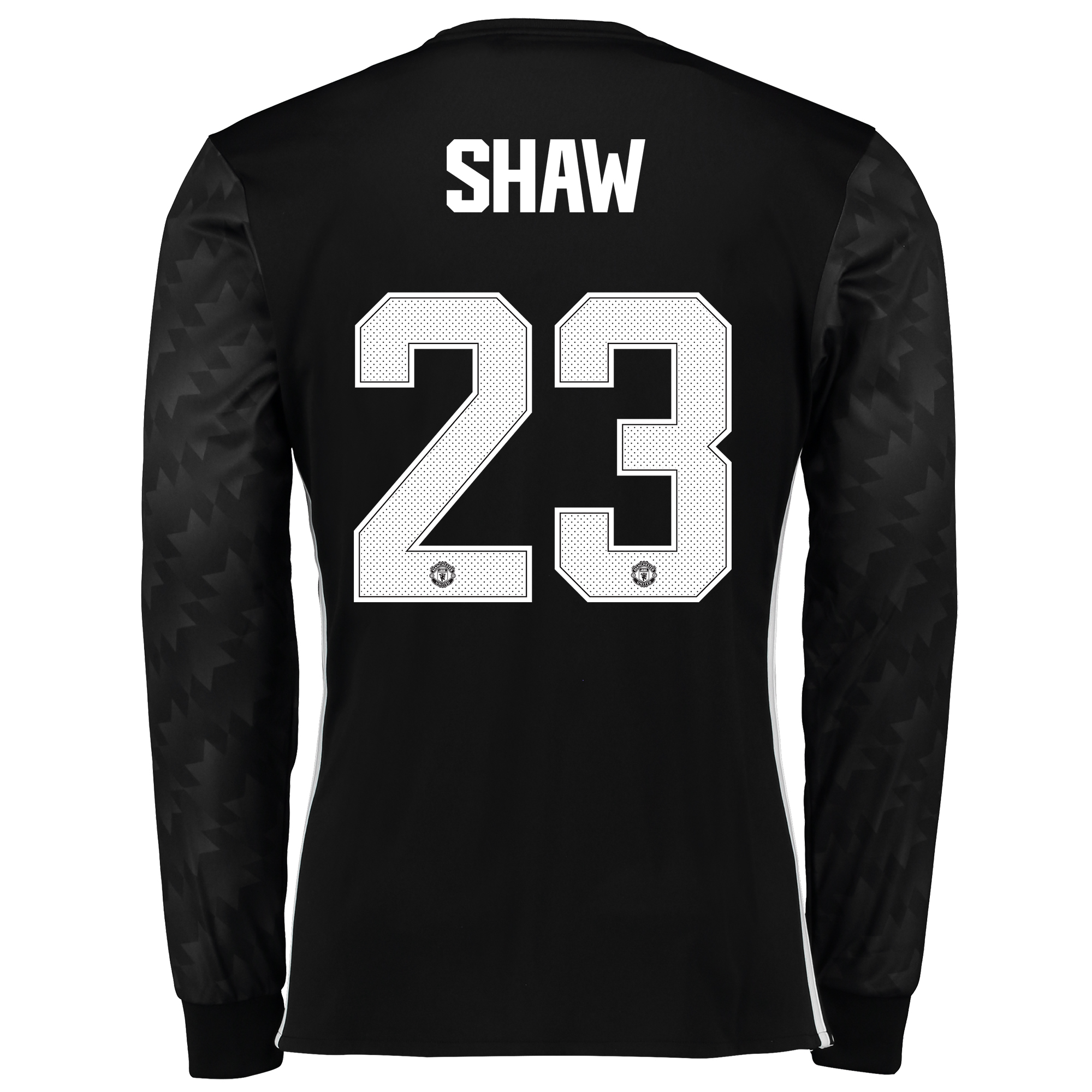 Image of Manchester United Away Cup Shirt 2017-18 - Long Sleeve with Shaw 23 printing