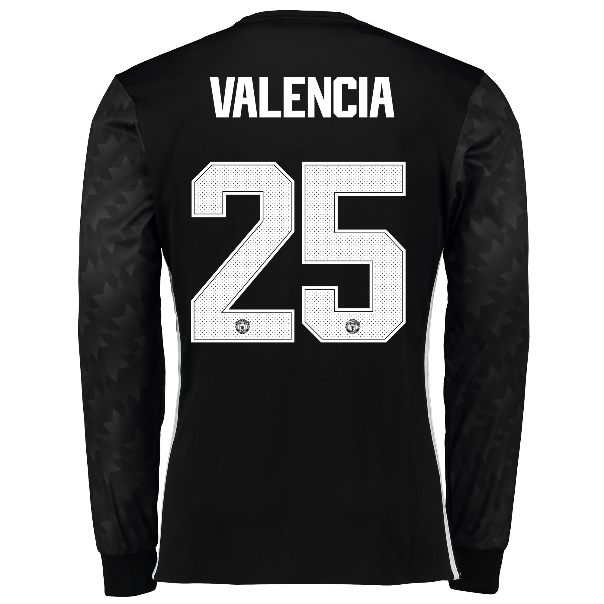 Image of Manchester United Away Cup Shirt 2017-18 - Long Sleeve with Valencia 25 printing