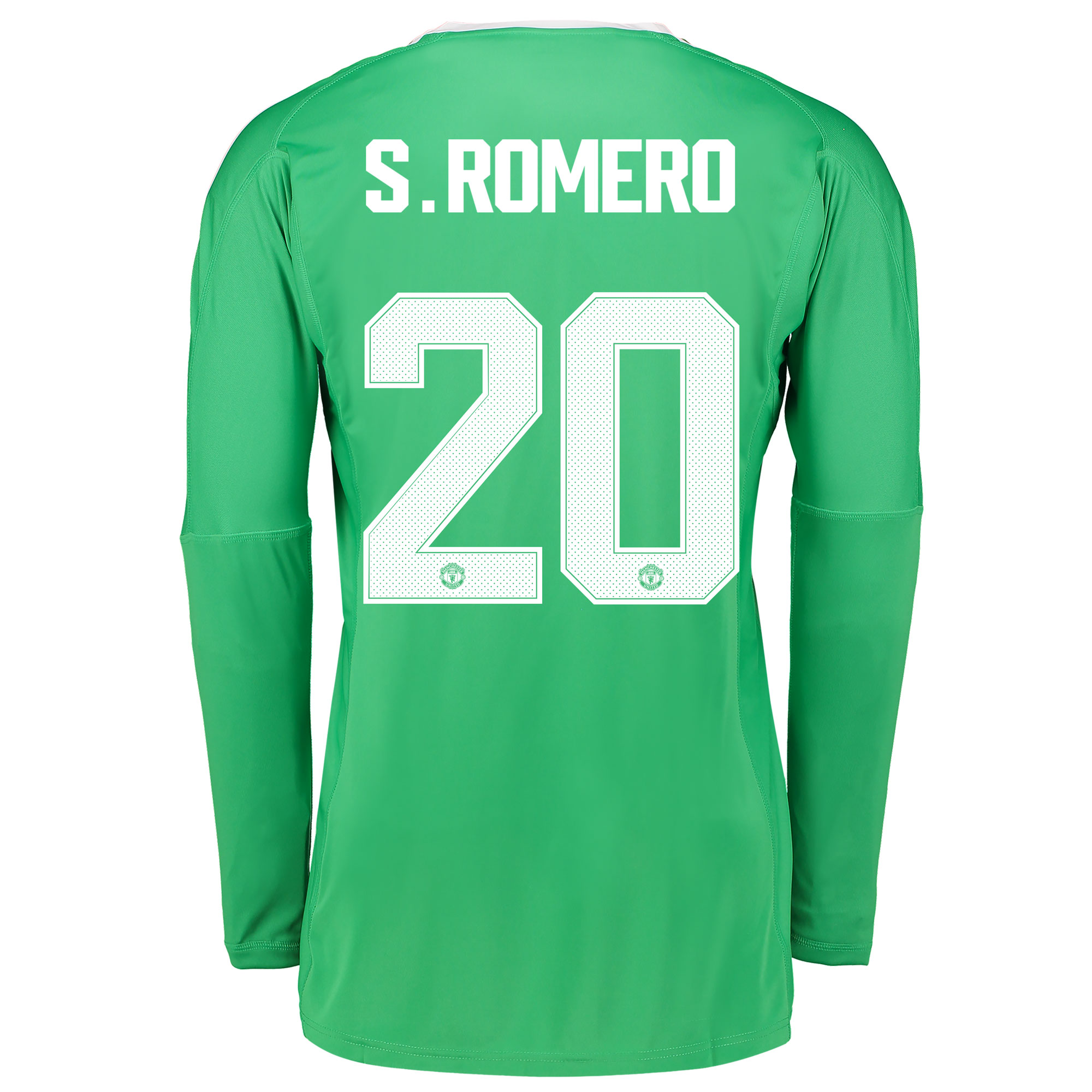 Manchester United Away Goalkeeper Cup Shirt 2017-18 with S.Romero 20 p
