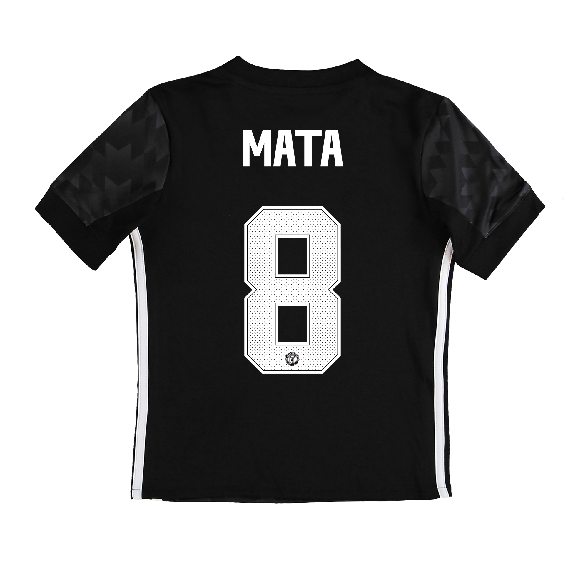Manchester United Away Cup Shirt 2017-18 - Kids with Mata 8 printing