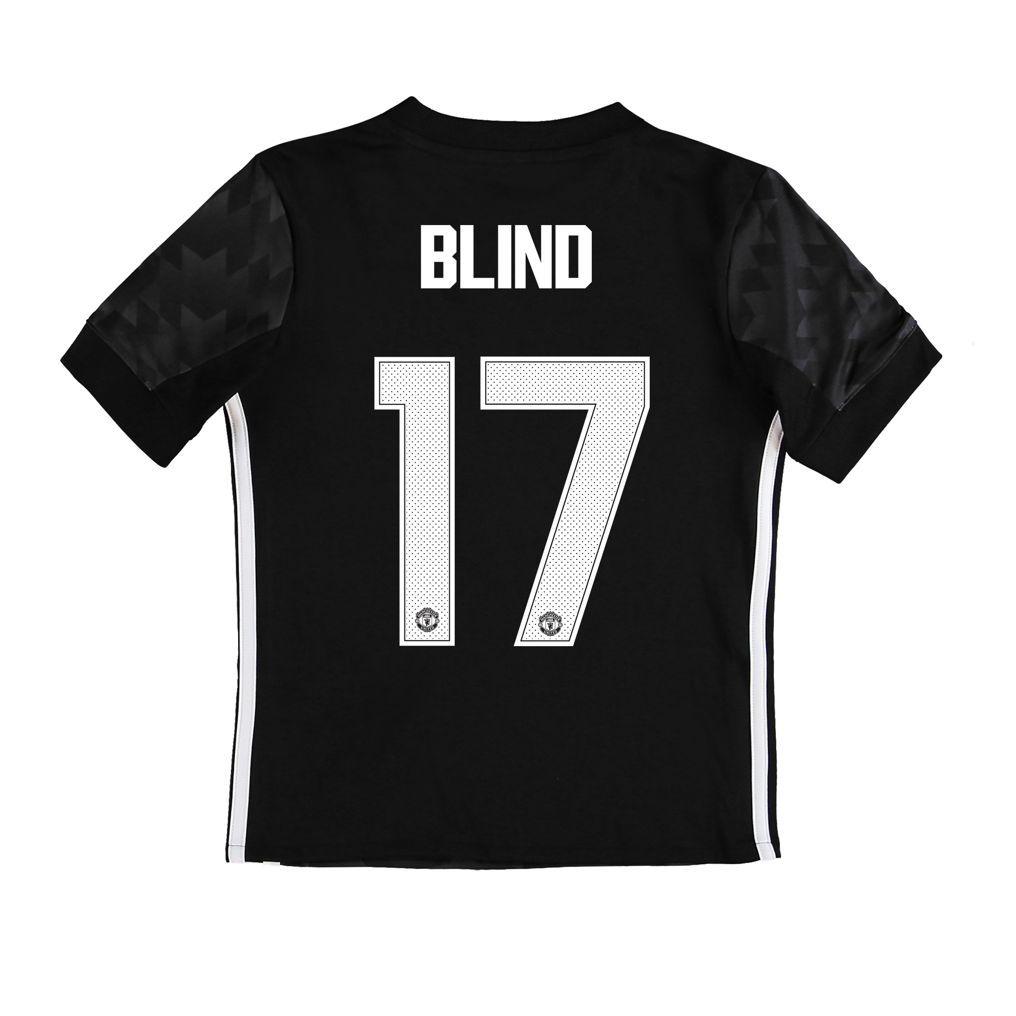 Manchester United Away Cup Shirt 2017-18 - Kids with Blind 17 printing