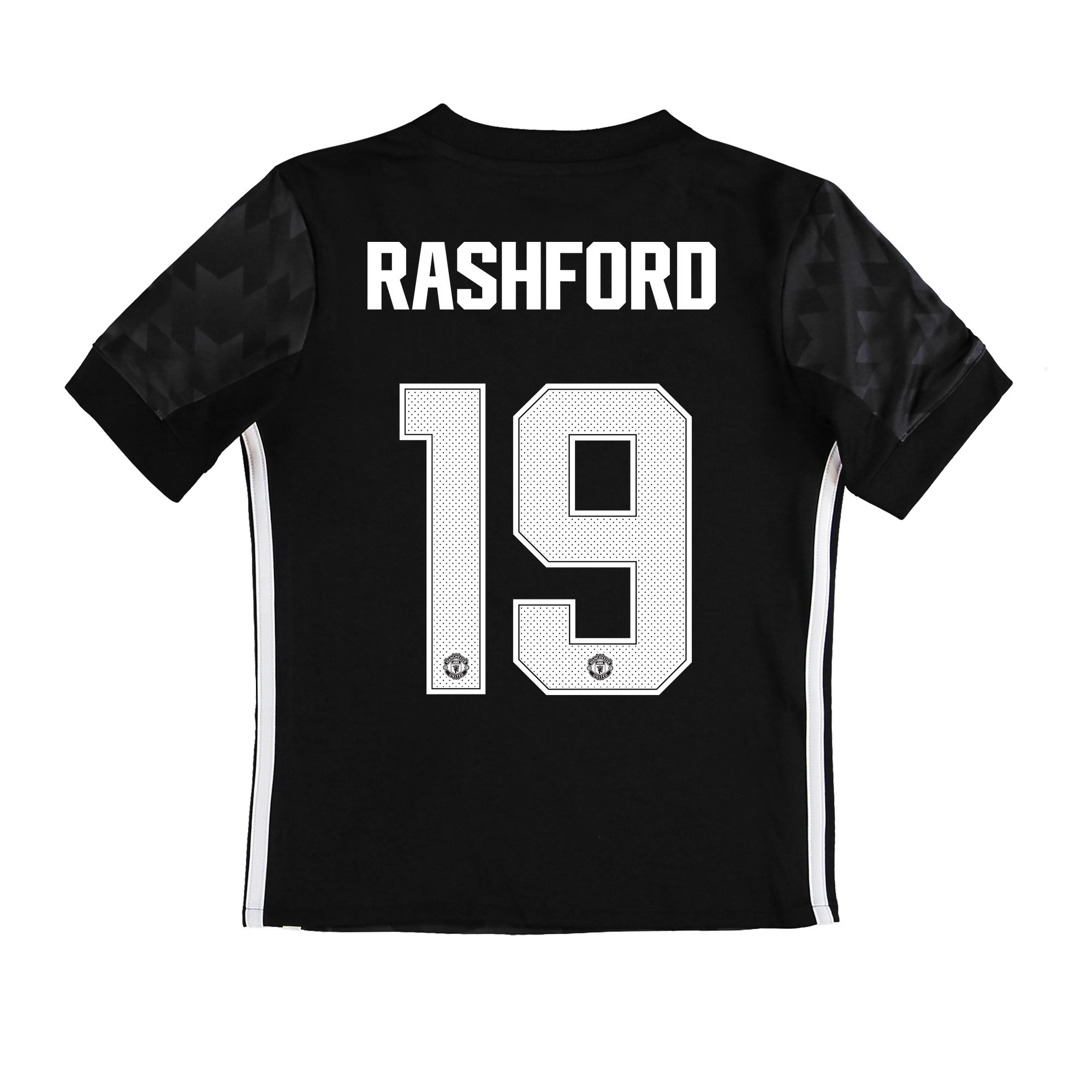 Manchester United Away Cup Shirt 2017-18 - Kids with Rashford 19 print