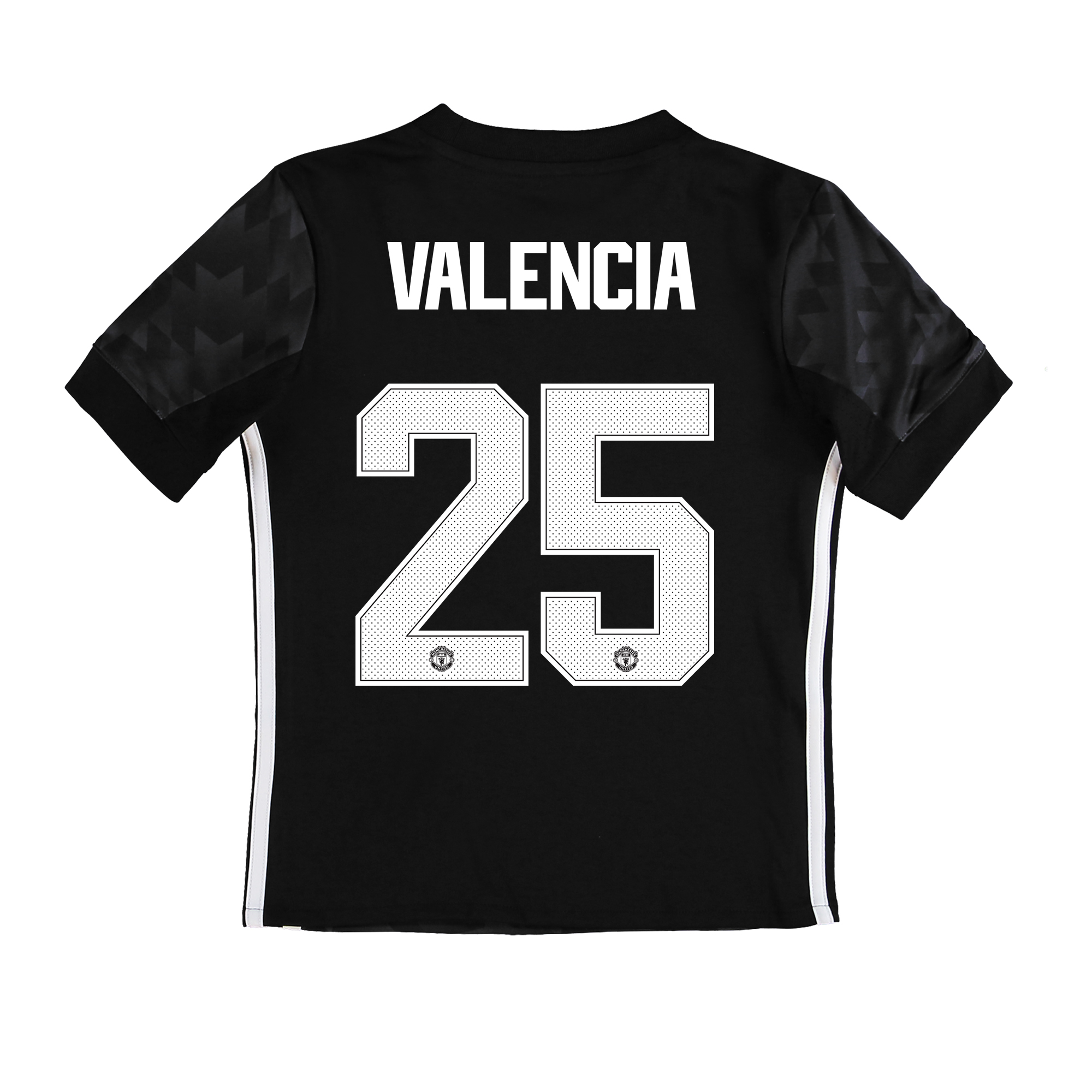 Manchester United Away Cup Shirt 2017-18 - Kids with Valencia 25 print