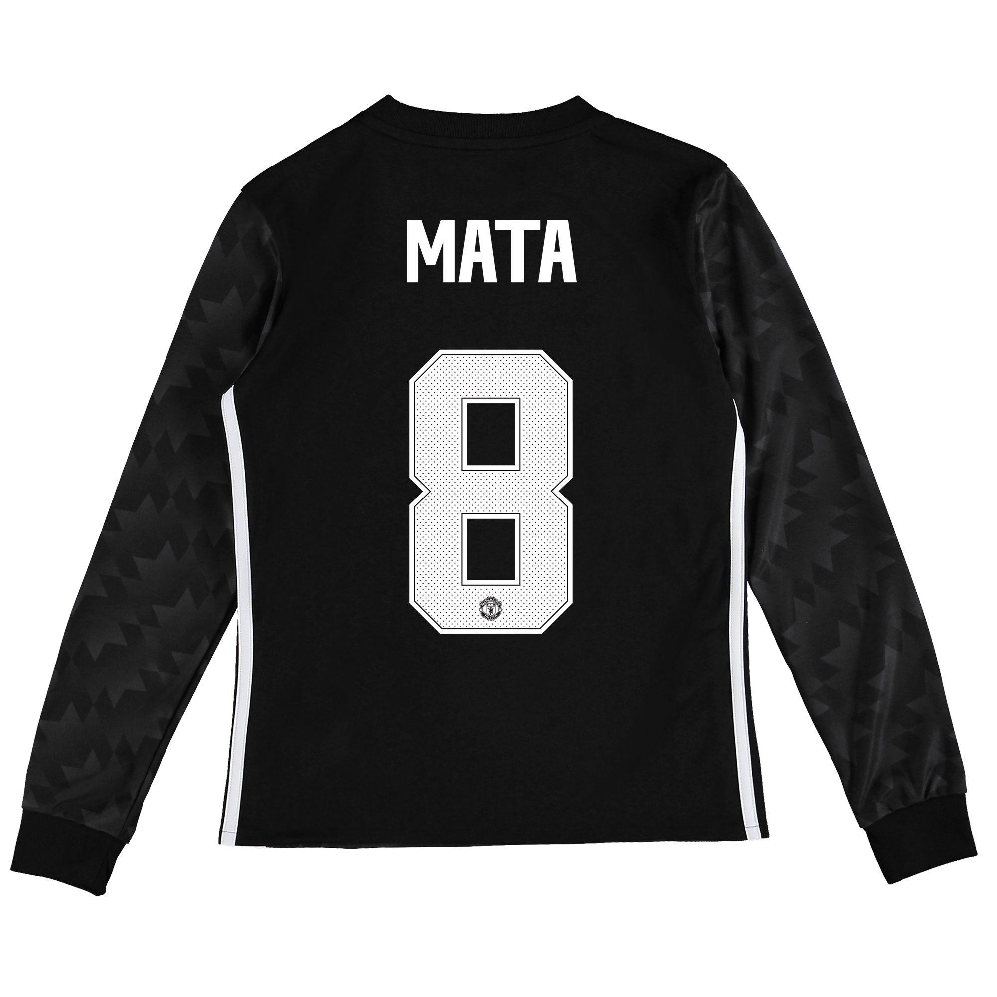 Image of Manchester United Away Cup Shirt 2017-18 - Kids - Long Sleeve with Mata 8 printing