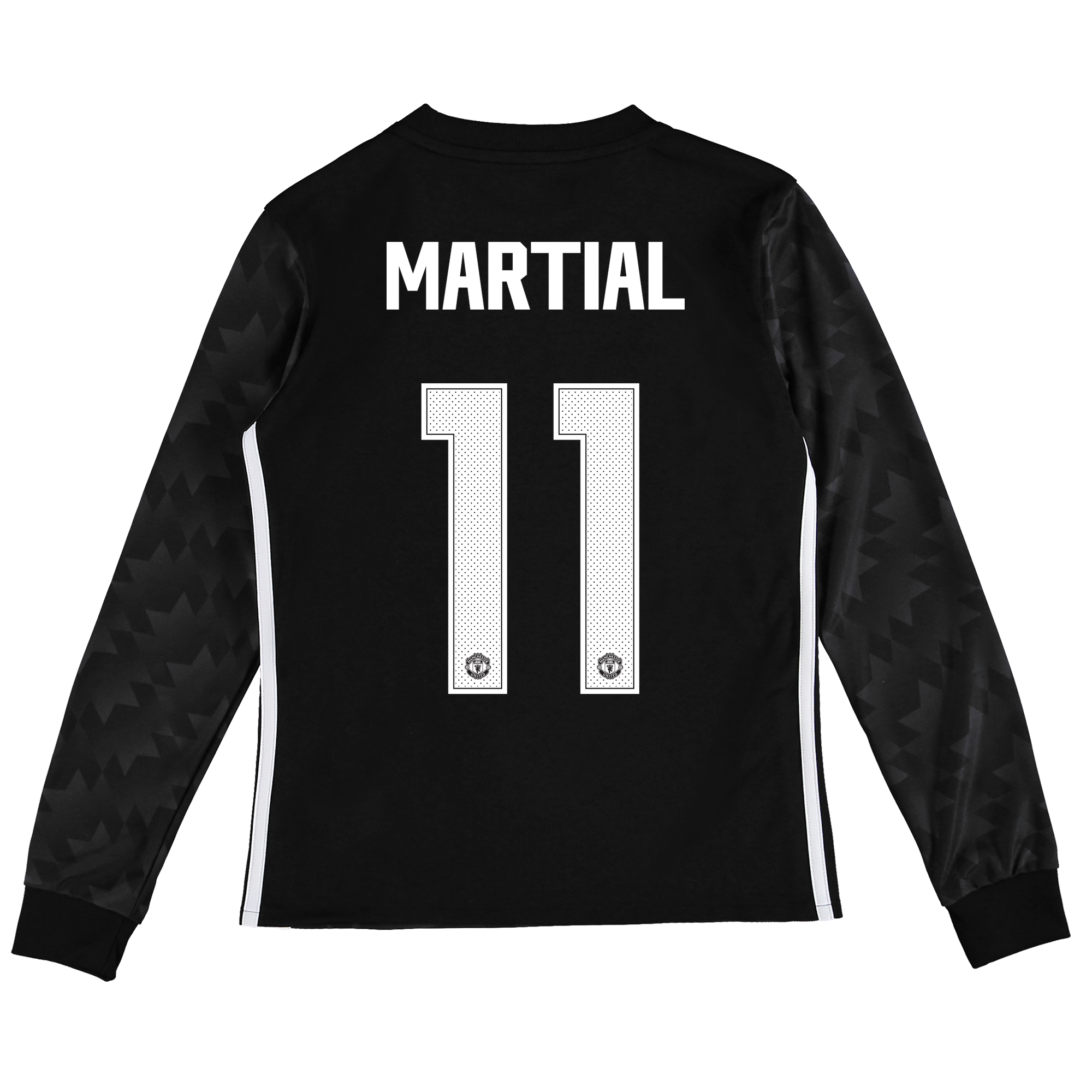 Manchester United Away Cup Shirt 2017-18 - Kids - Long Sleeve with Mar