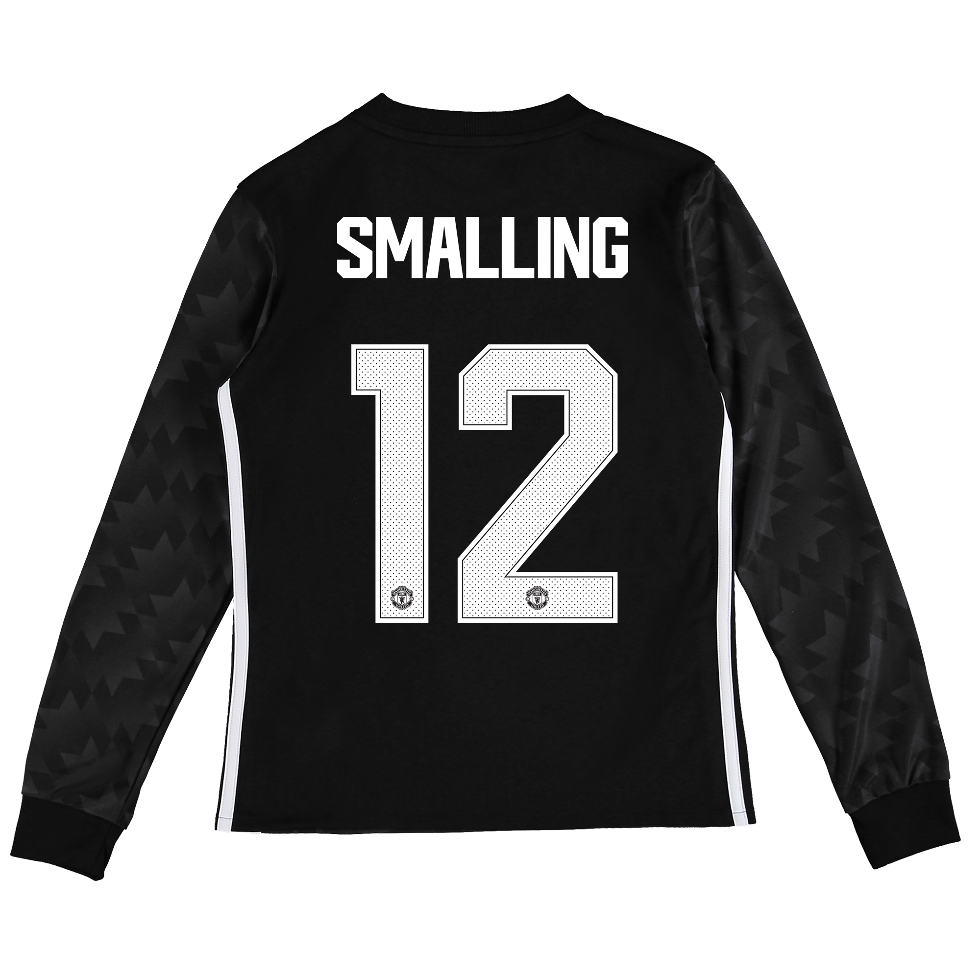 Image of Manchester United Away Cup Shirt 2017-18 - Kids - Long Sleeve with Smalling 12 printing