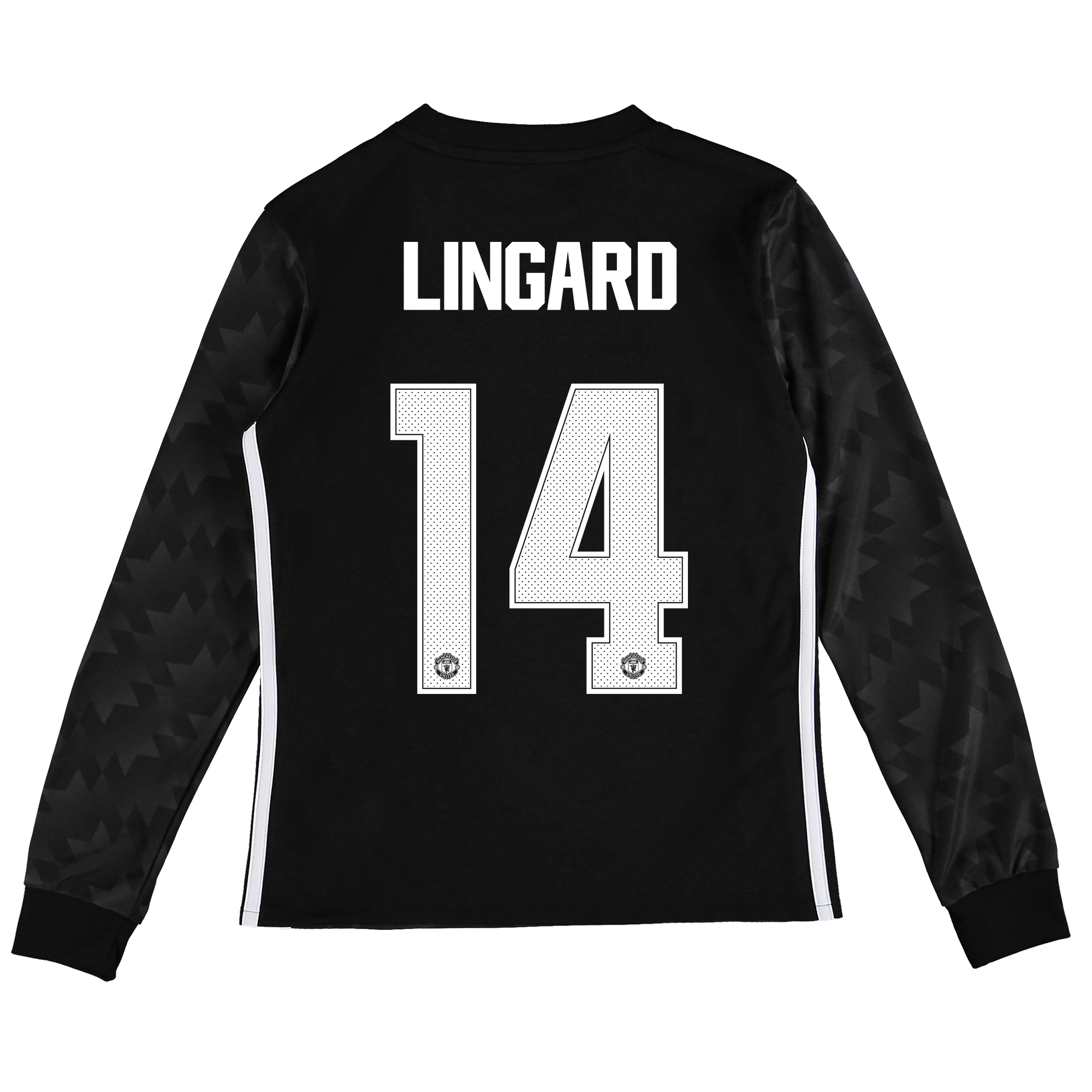 Image of Manchester United Away Cup Shirt 2017-18 - Kids - Long Sleeve with Lingard 14 printing