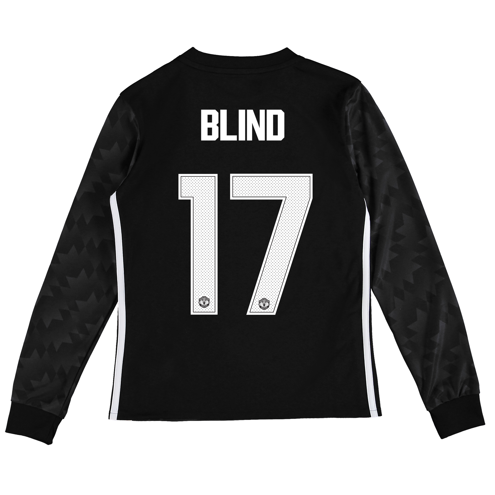 Image of Manchester United Away Cup Shirt 2017-18 - Kids - Long Sleeve with Blind 17 printing