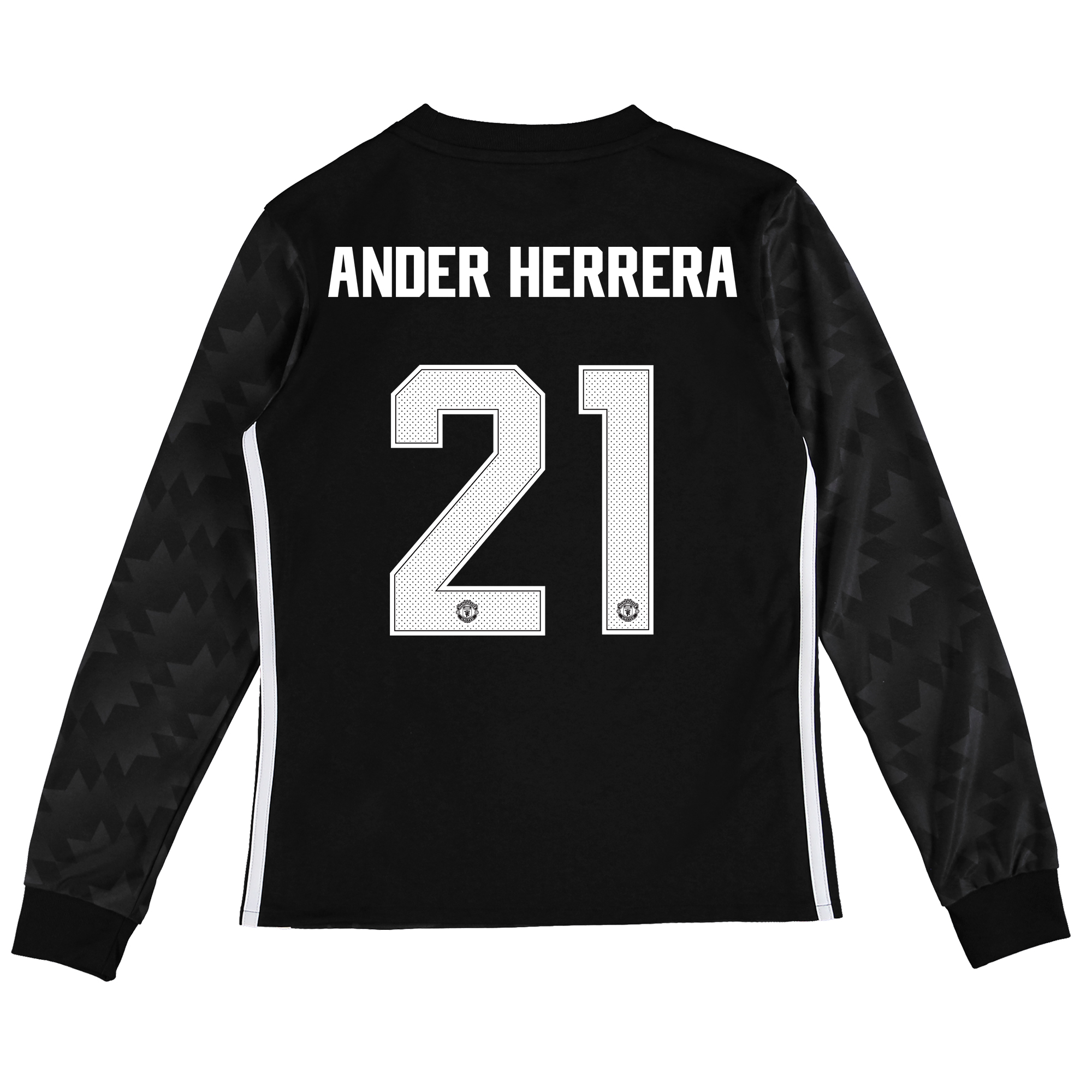 Image of Manchester United Away Cup Shirt 2017-18 - Kids - Long Sleeve with Ander Herrera 21 printing