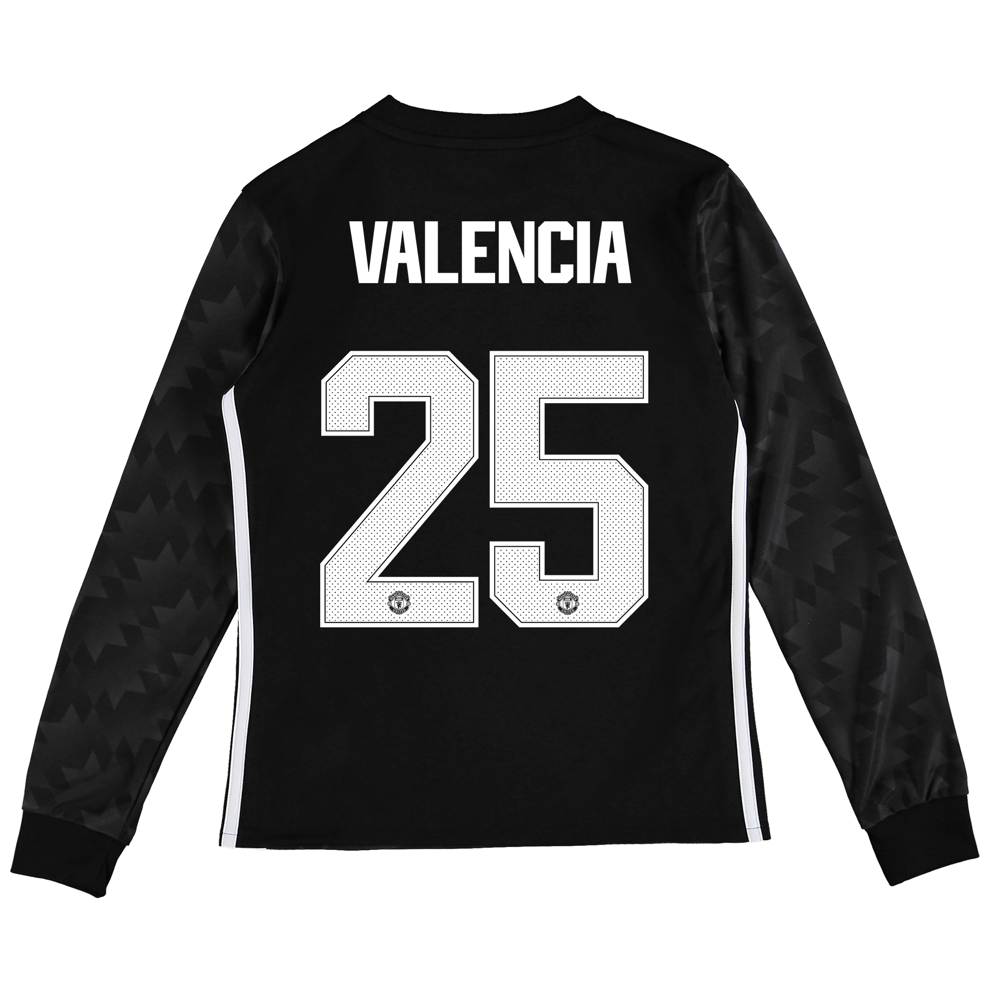 Image of Manchester United Away Cup Shirt 2017-18 - Kids - Long Sleeve with Valencia 25 printing