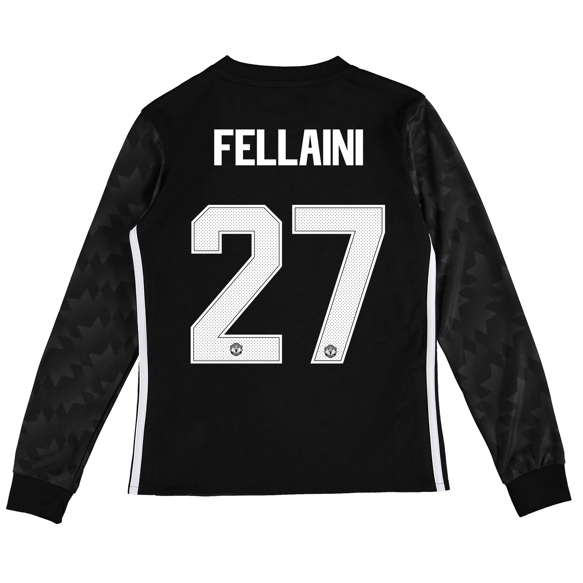 Image of Manchester United Away Cup Shirt 2017-18 - Kids - Long Sleeve with Fellaini 27 printing