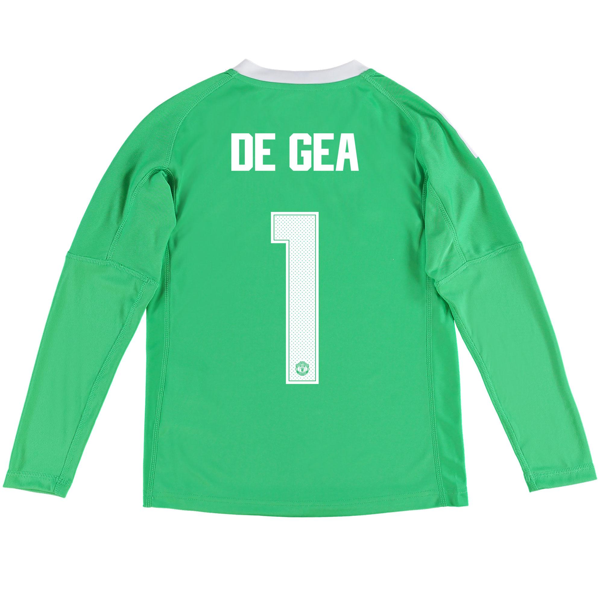 Manchester United Away Goalkeeper Cup Shirt 2017-18 - Kids with De Gea