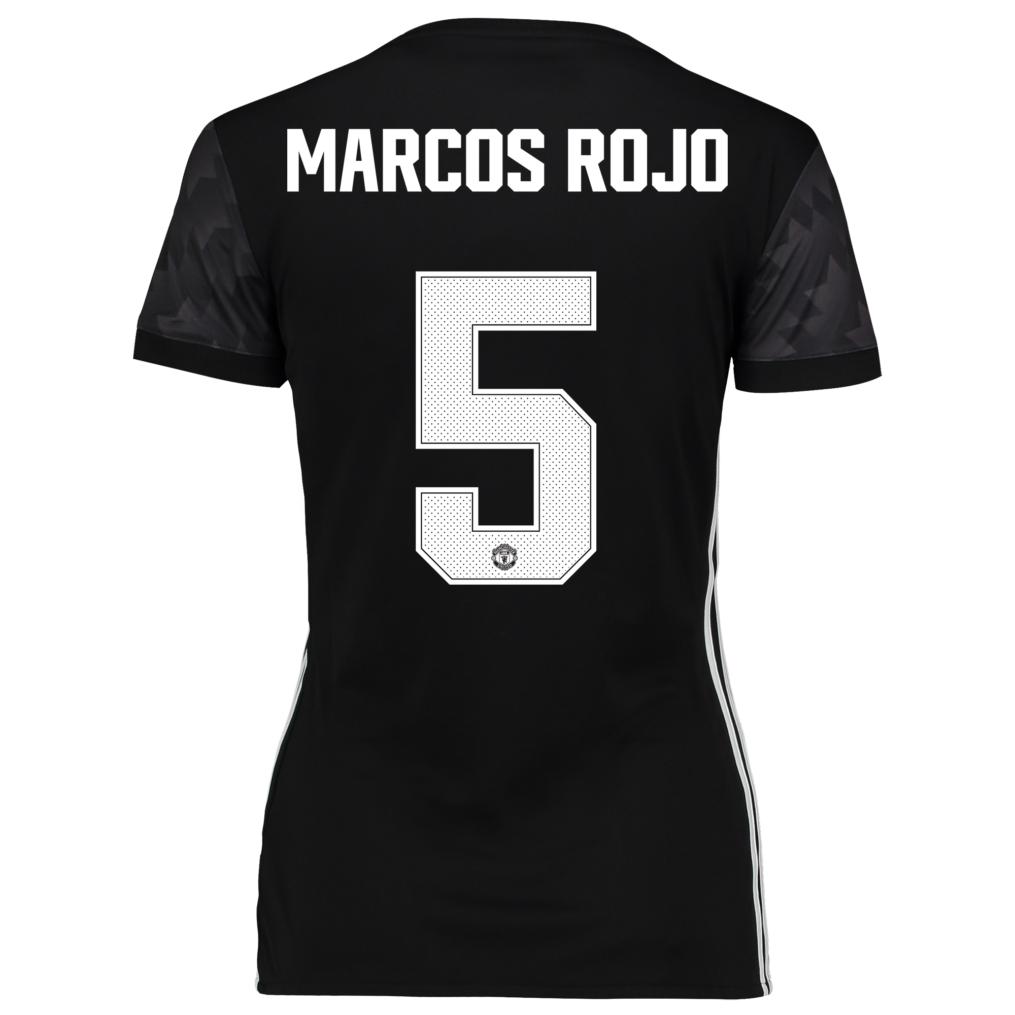 Image of Manchester United Away Cup Shirt 2017-18 - Womens with Marcos Rojo 5 printing