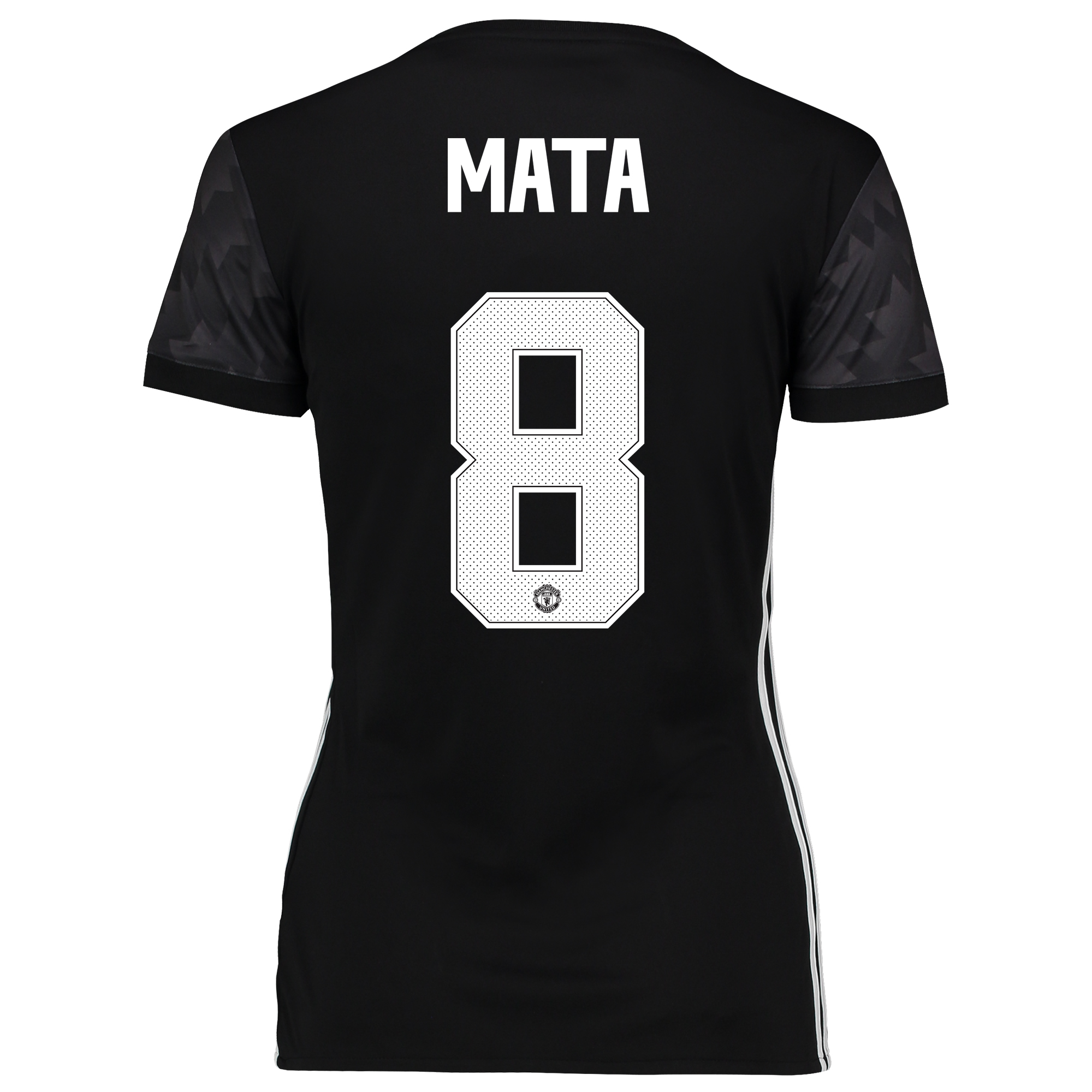Manchester United Away Cup Shirt 2017-18 - Womens with Mata 8 printing