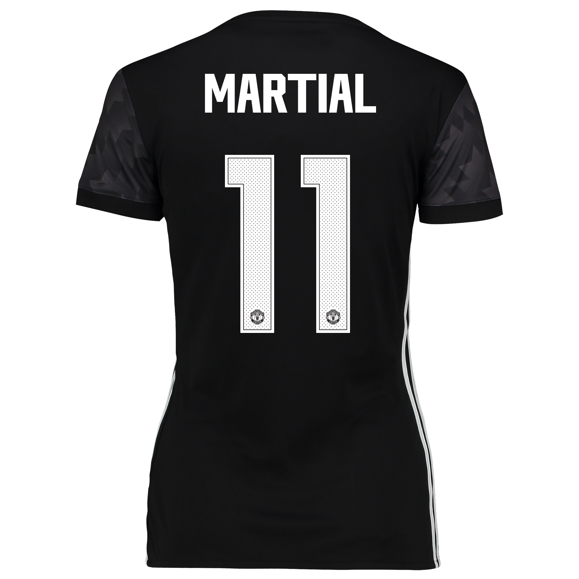 Manchester United Away Cup Shirt 2017-18 - Womens with Martial 11 prin