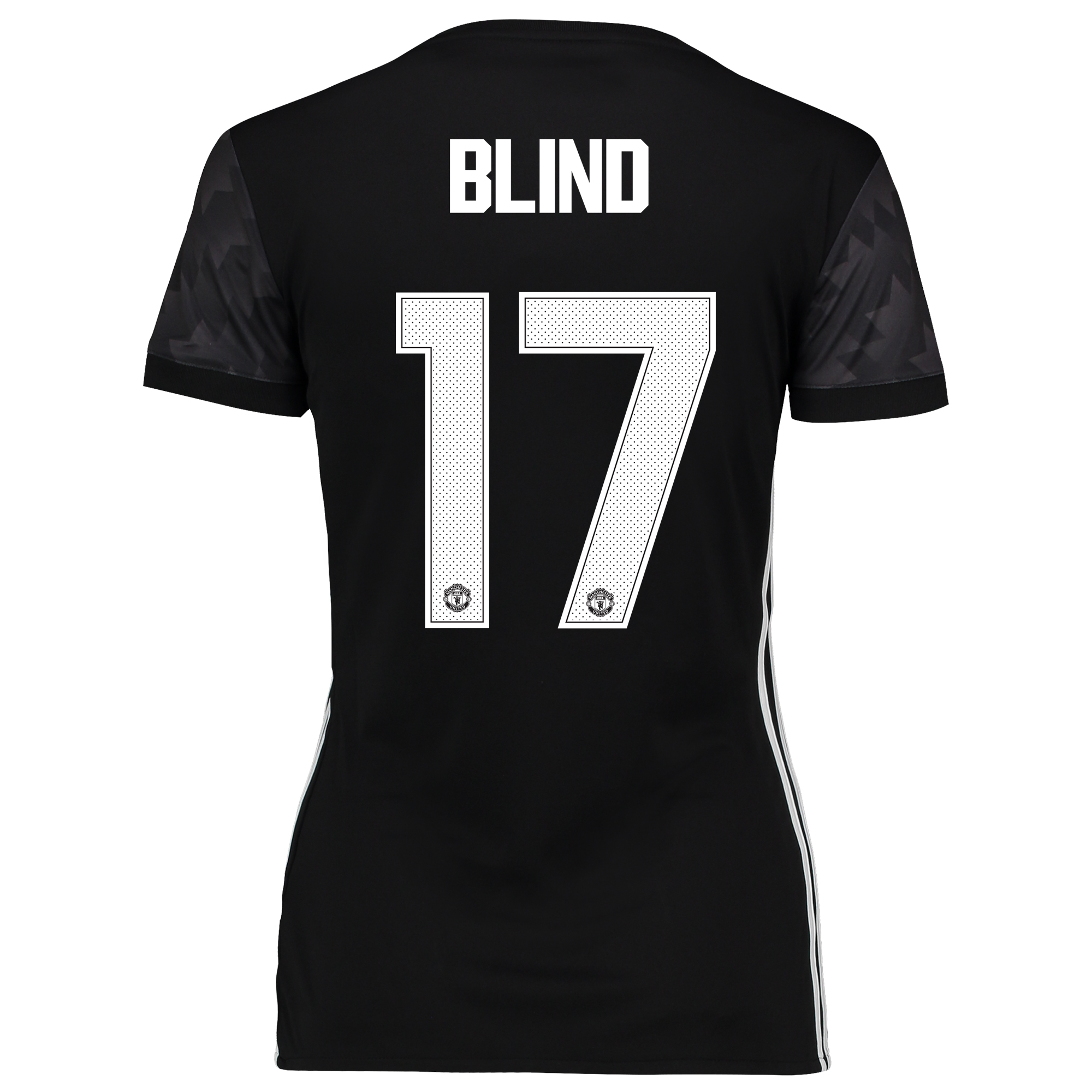 Image of Manchester United Away Cup Shirt 2017-18 - Womens with Blind 17 printing