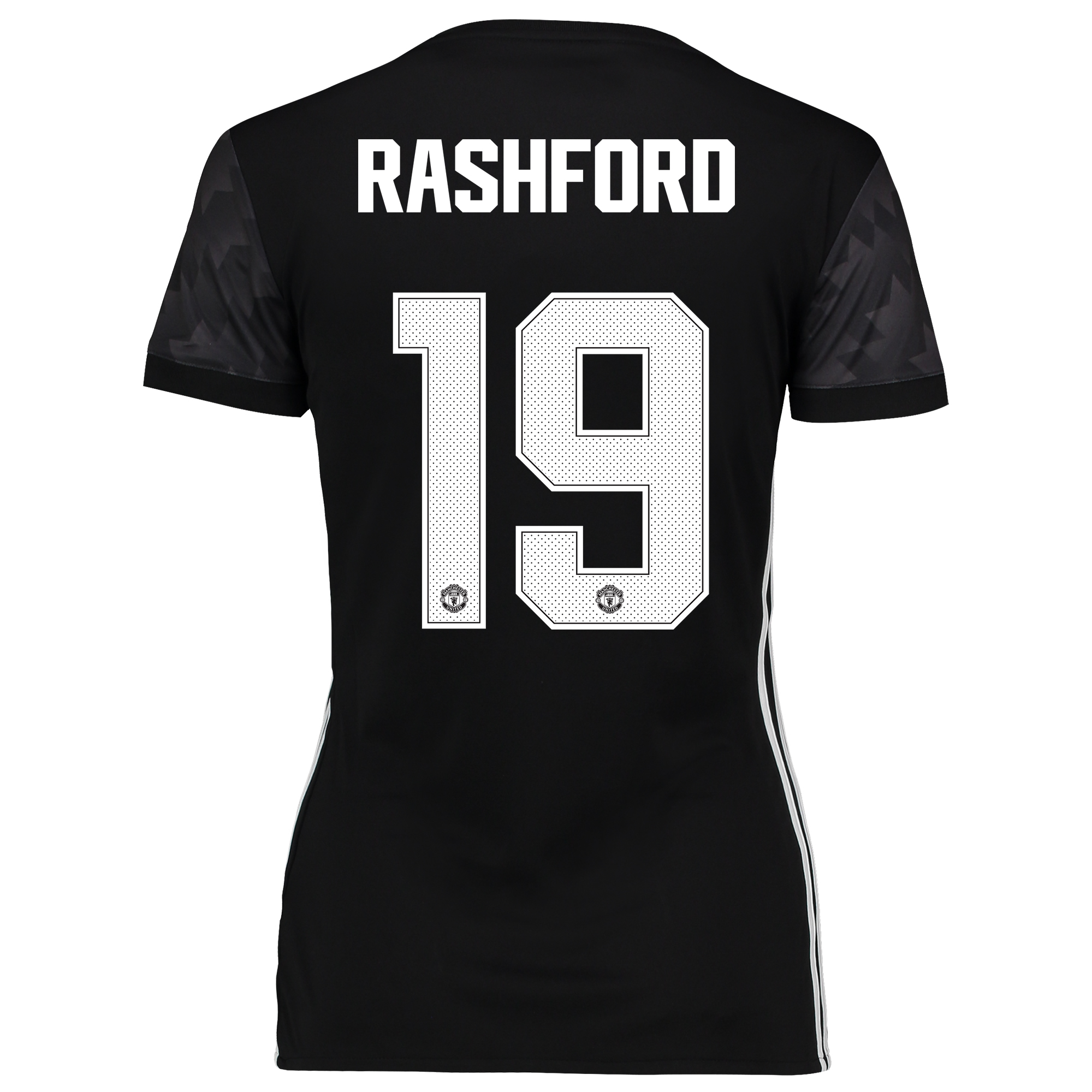 Image of Manchester United Away Cup Shirt 2017-18 - Womens with Rashford 19 printing