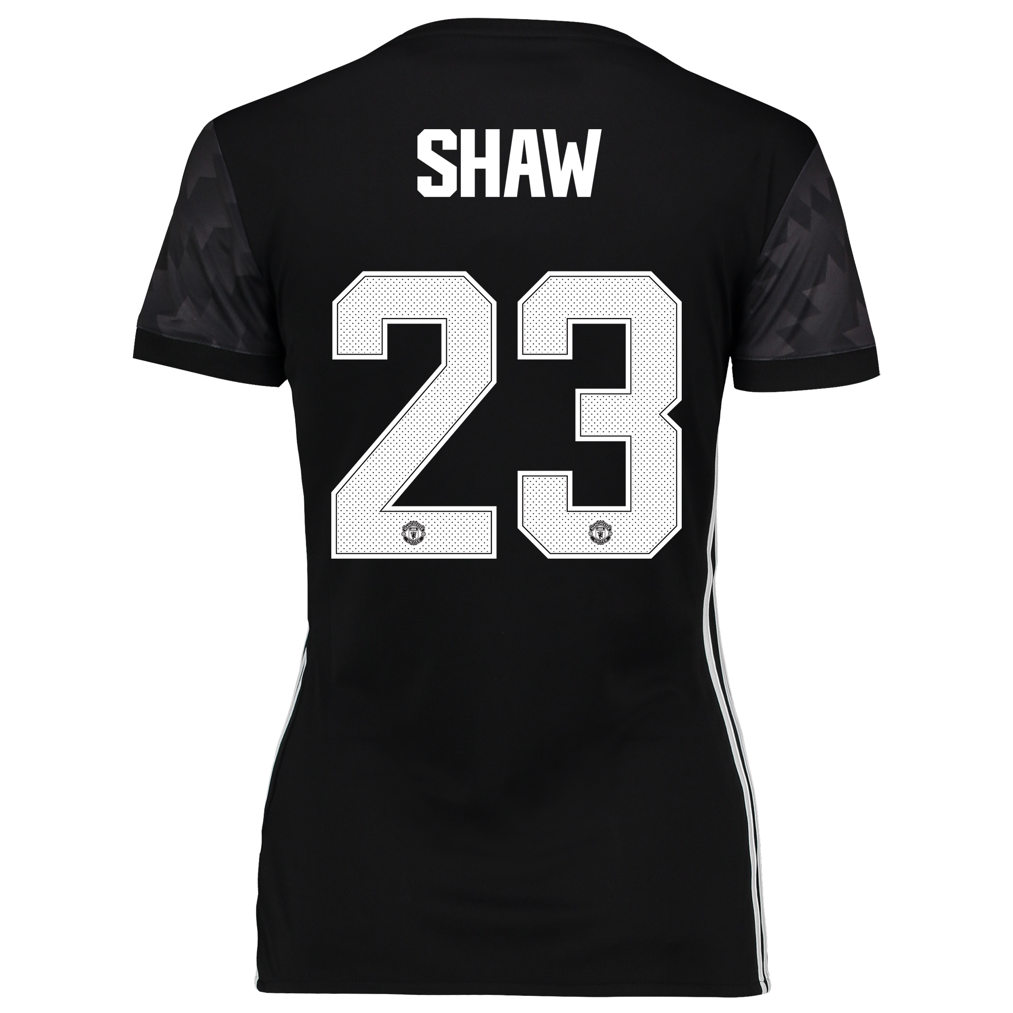 Manchester United Away Cup Shirt 2017-18 - Womens with Shaw 23 printin