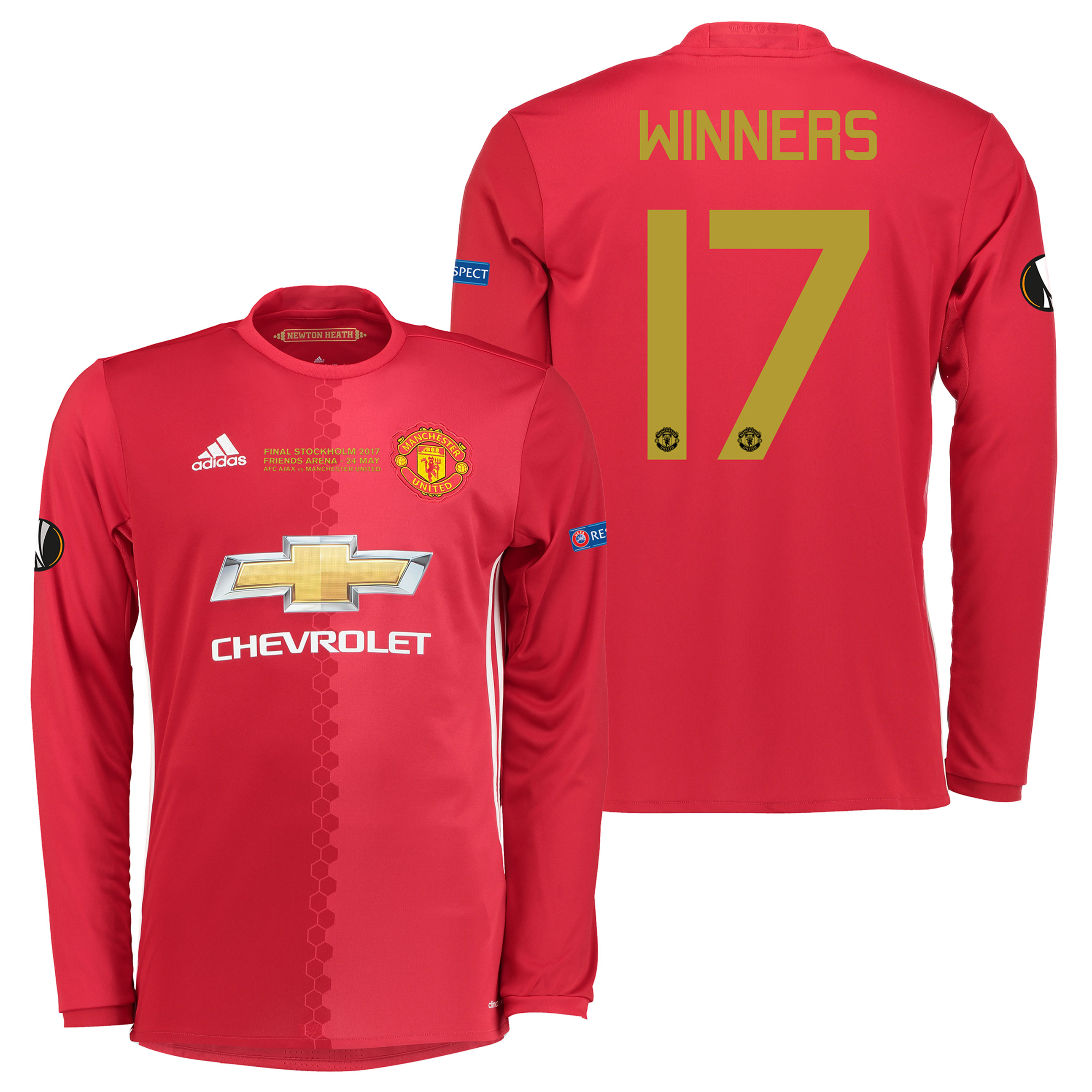 Manchester United Europa League Final Home Shirt 2016-17 - Long Sleeve