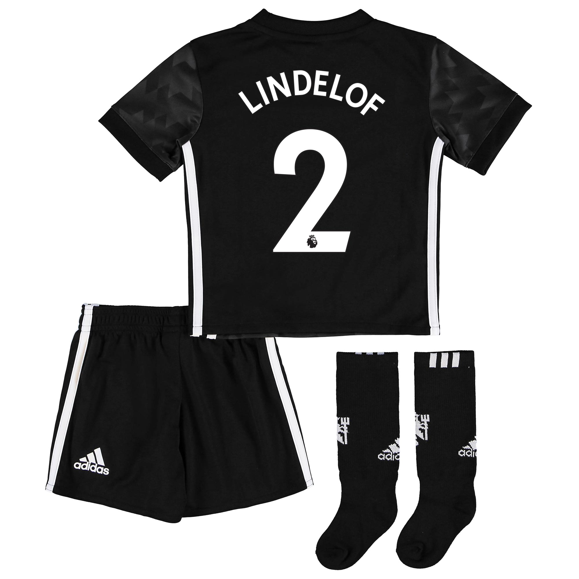 Manchester United Away Mini Kit 2017-18 with Lindelof TBC printing