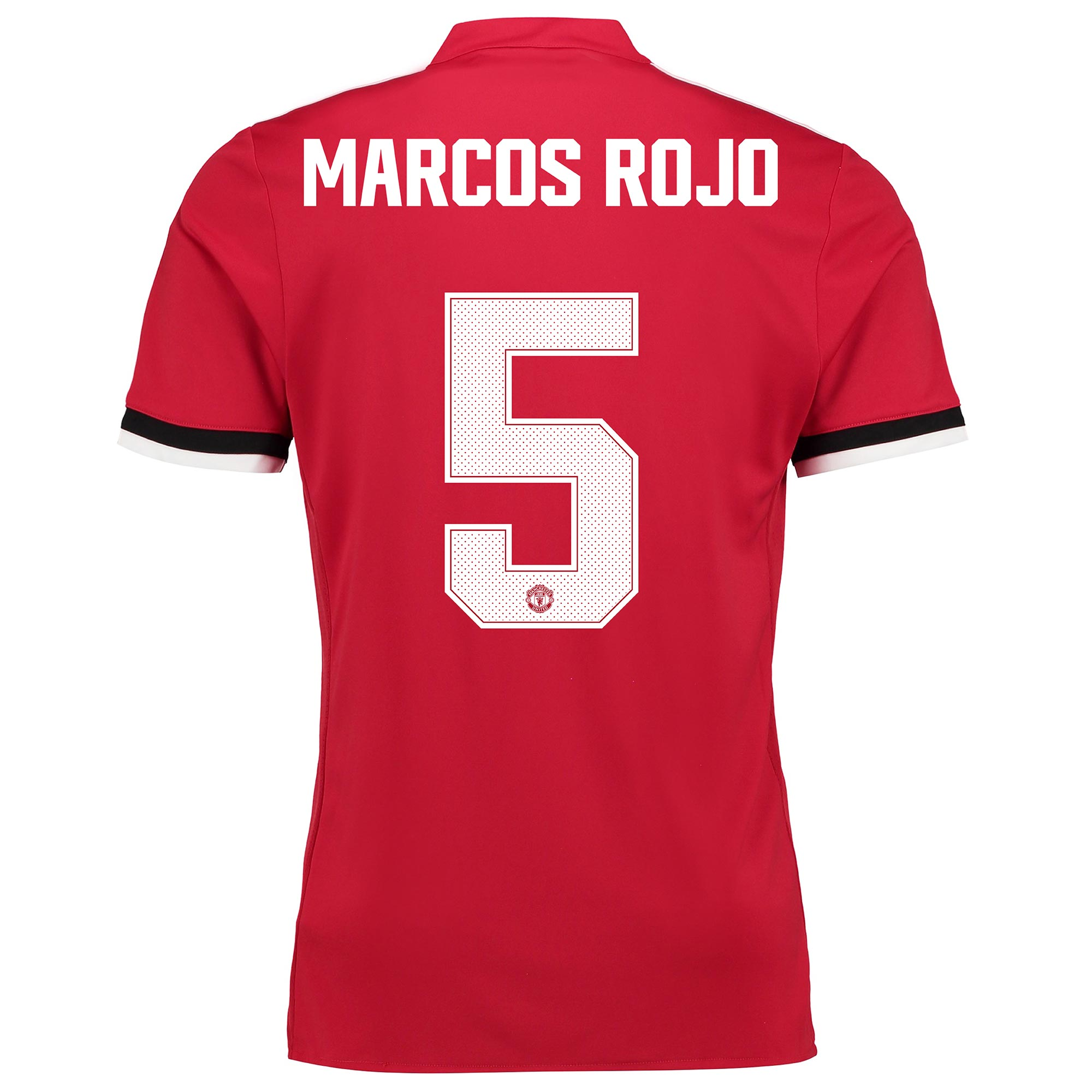 Manchester United Home Cup Shirt 2017-18 with Marcos Rojo 5 printing