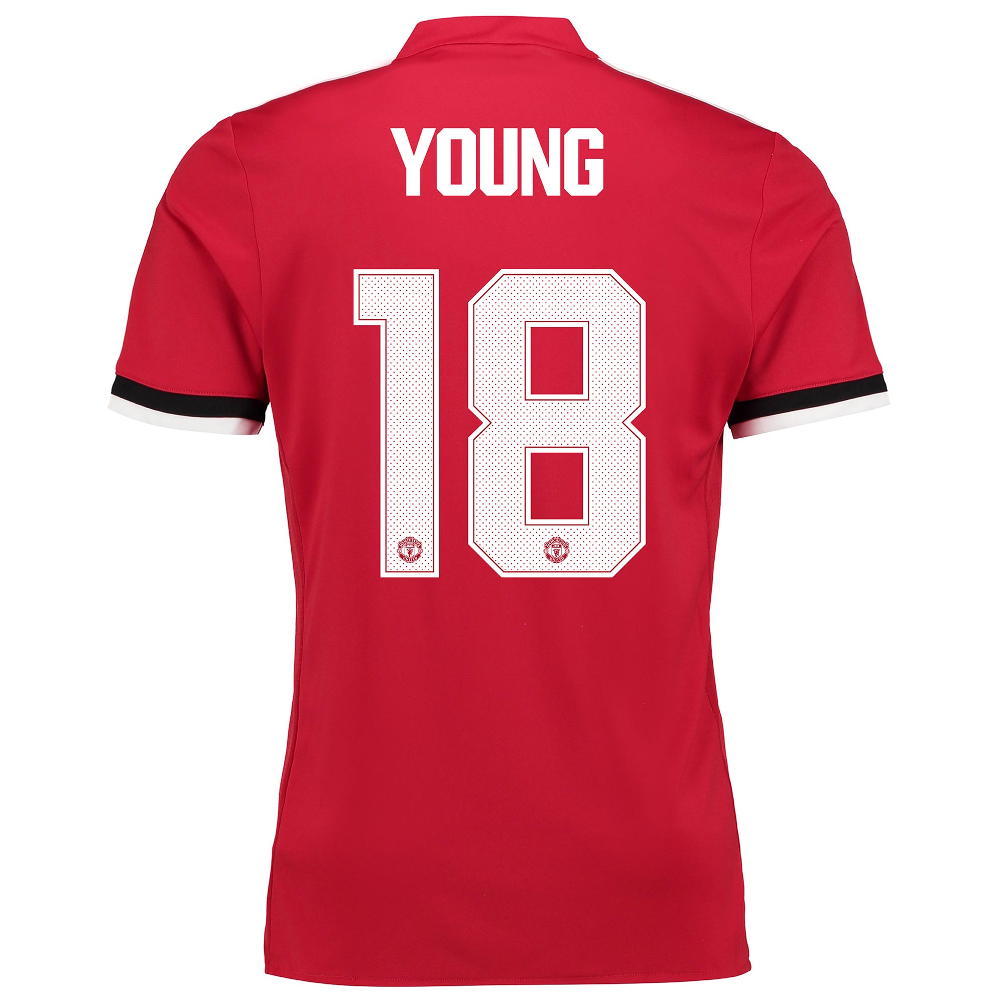 Manchester United Home Cup Shirt 2017-18 with Young 18 printing