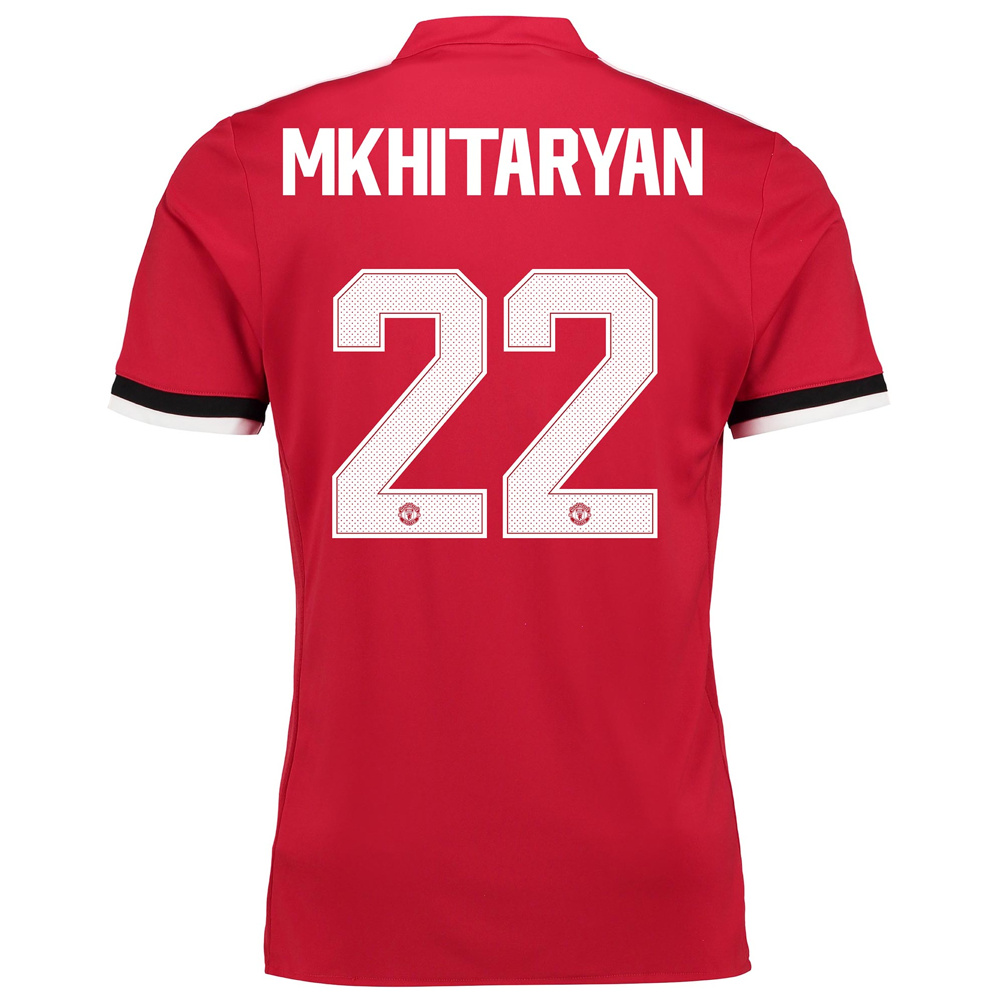 Manchester United Home Cup Shirt 2017-18 with Mkhitaryan 22 printing