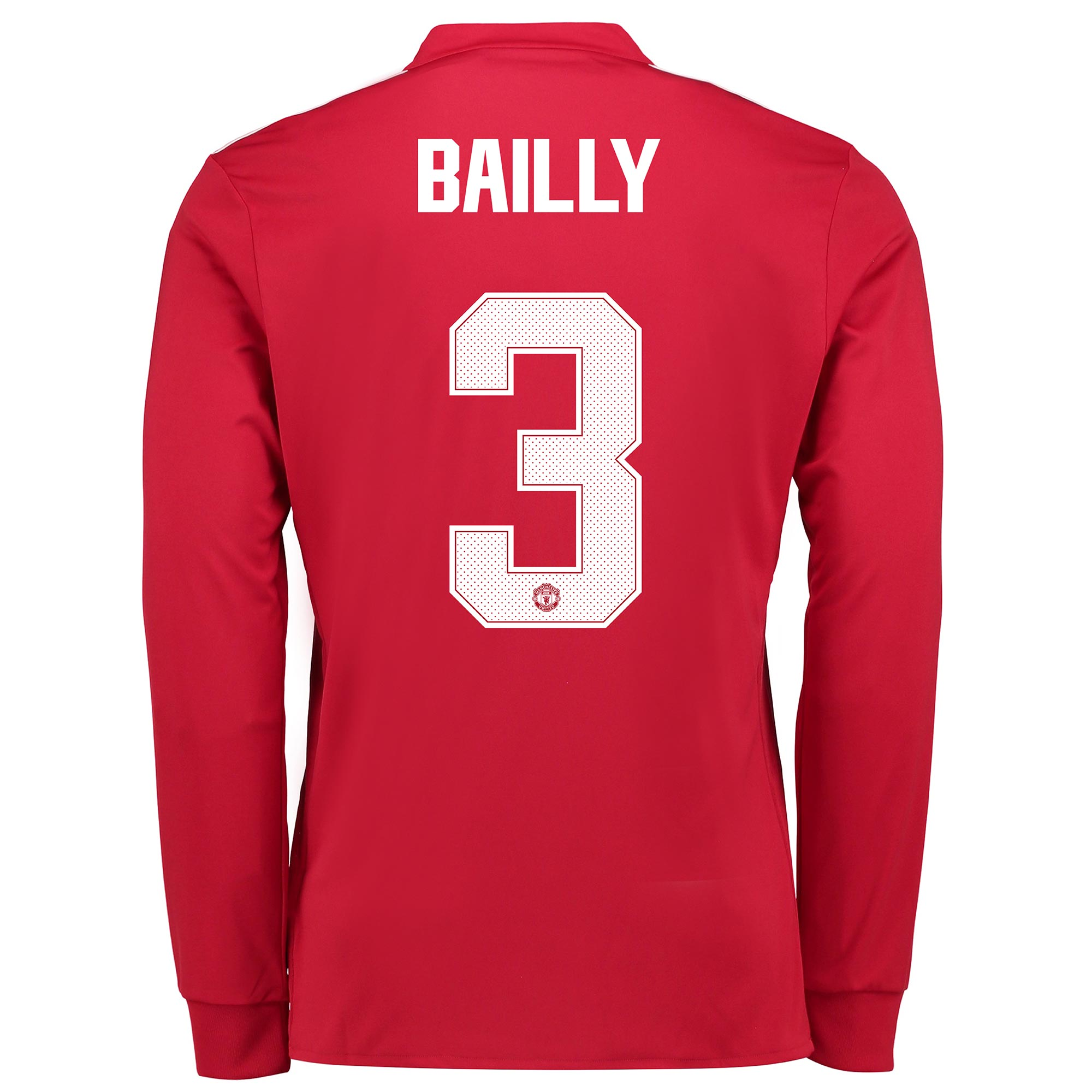 Manchester United Home Cup Shirt 2017-18 - Long Sleeve with Bailly 3 p