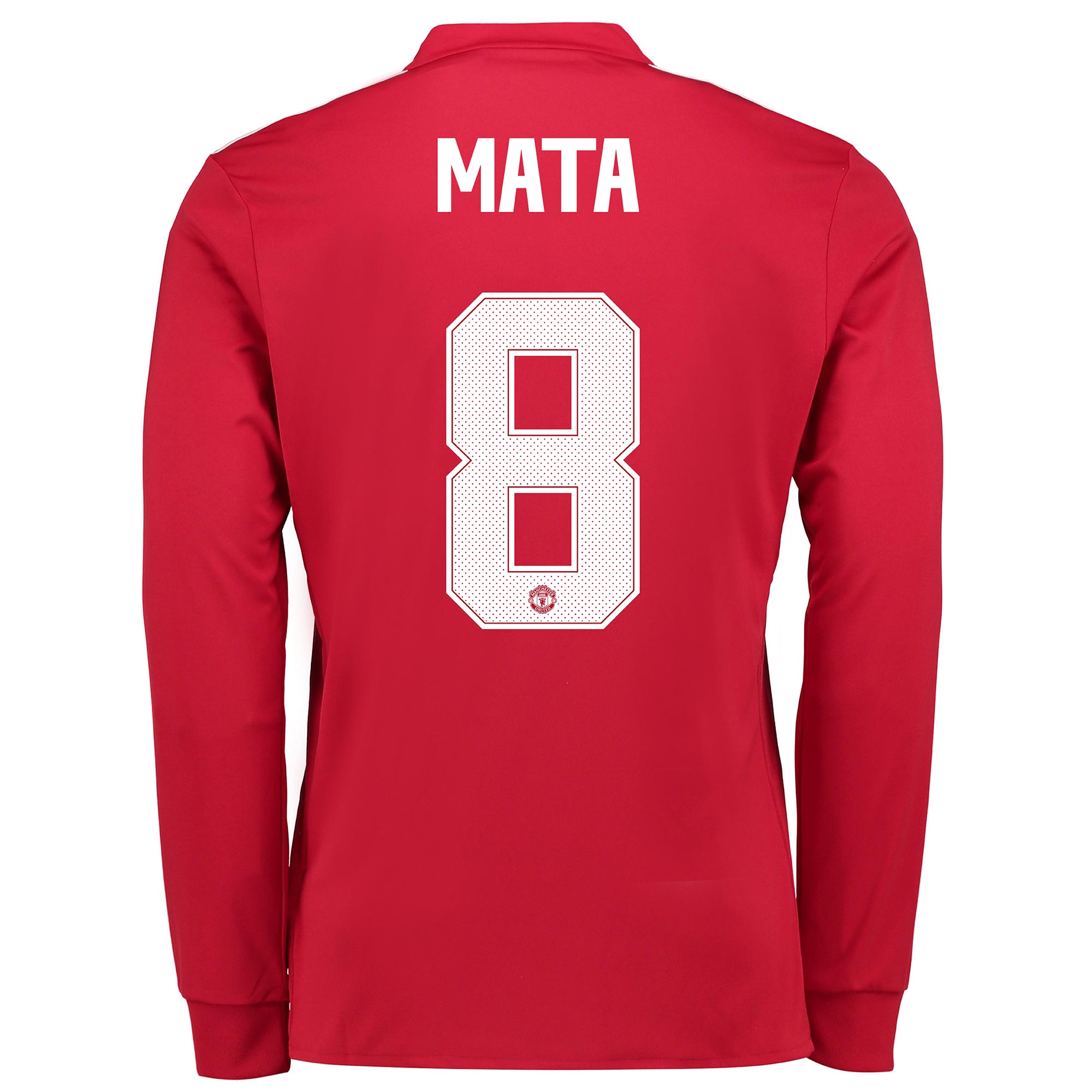 Manchester United Home Cup Shirt 2017-18 - Long Sleeve with Mata 8 pri