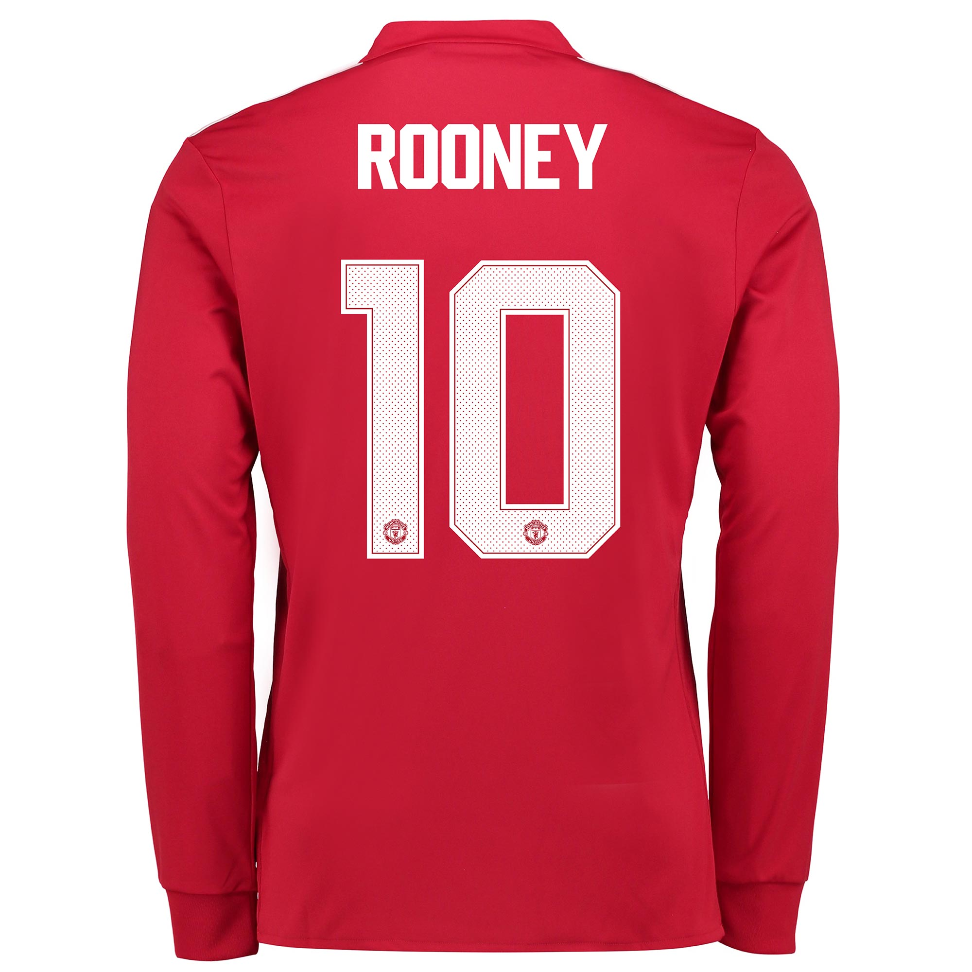 Manchester United Home Cup Shirt 2017-18 - Long Sleeve with Rooney 10
